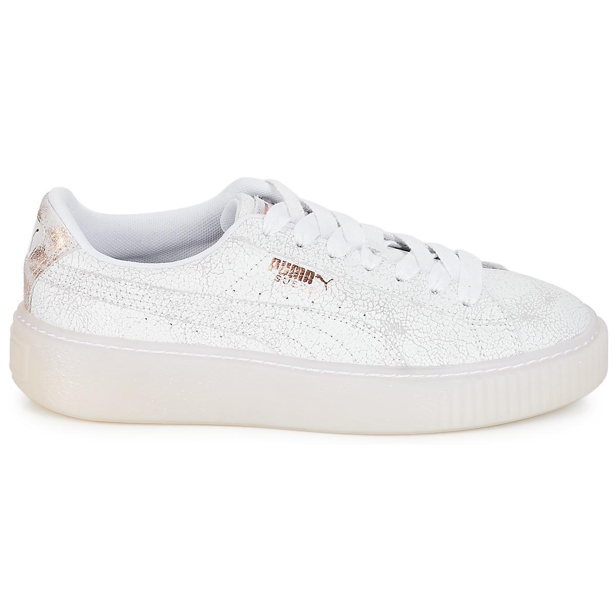0f5a415e96c PUMA Wn Suede Platform Artica.w Women s Shoes (trainers) In White in ...