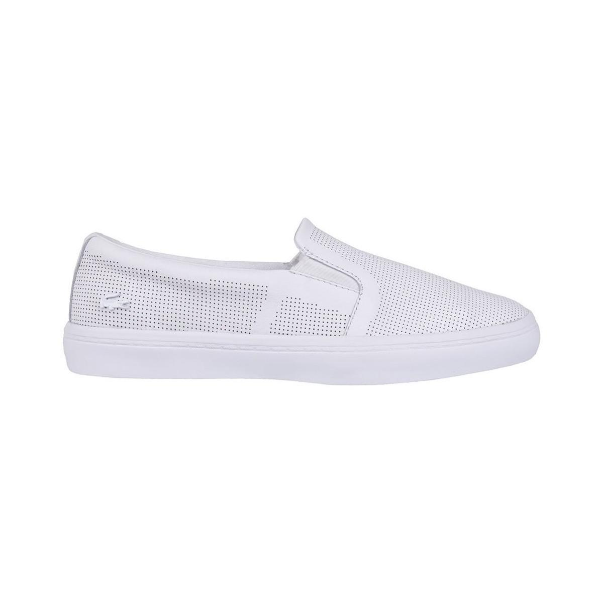 97309728f Lacoste Gazon Slip On Women s Slip-ons (shoes) In White in White ...