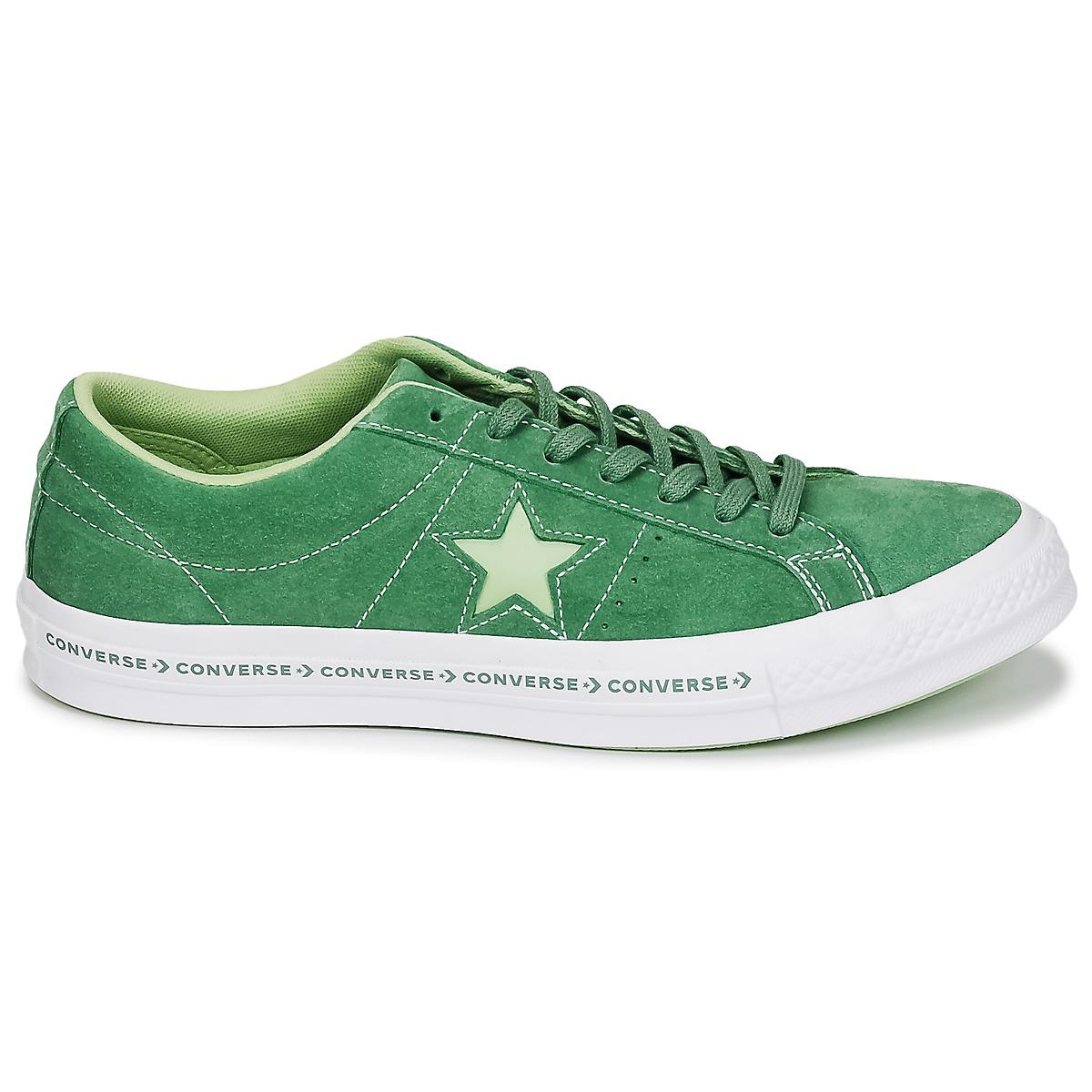 06ce90a6e28f Converse One Star Shoes (trainers) in Green for Men - Save 12% - Lyst