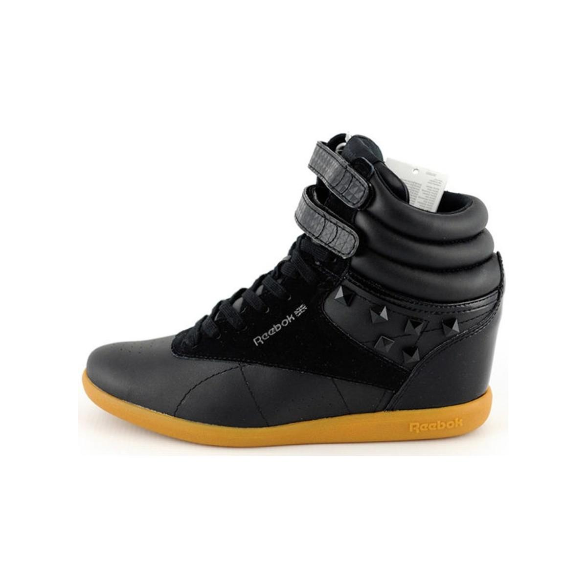 d0df4db947467c Reebok Fs Hi Int Wedge Women s Shoes (high-top Trainers) In Black in ...