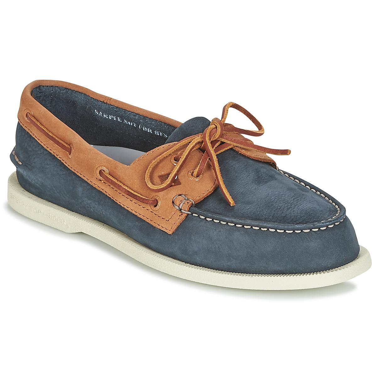 Sperry Top-Sider A o 2-eye Washable Men s Boat Shoes In Blue in Blue ... 62d976c0b45