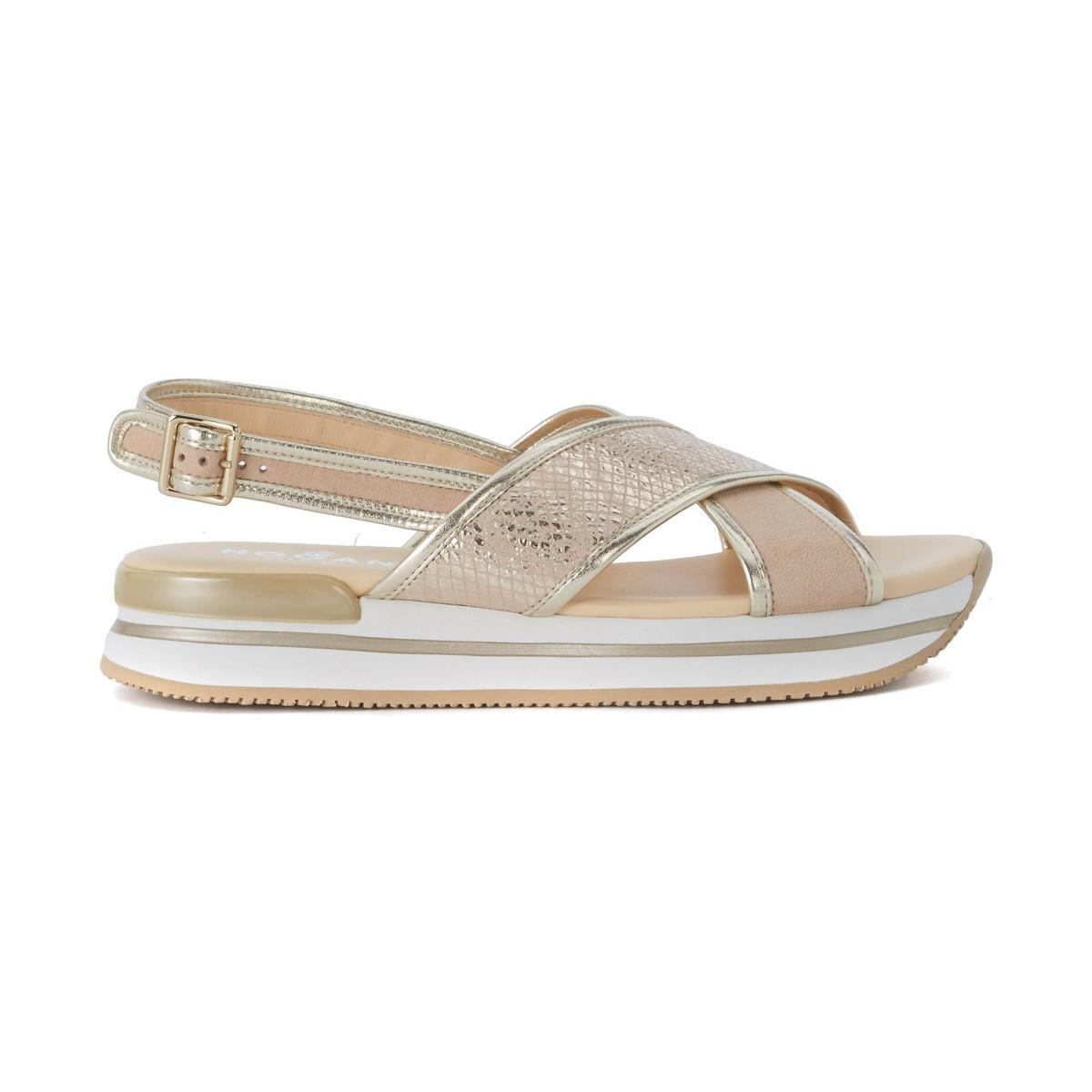 Hogan H257 Blush Pink Suede And Gold Leather Sandal Clearance Shop Offer Shopping Online Visit Cheap Price Buy Cheap Brand New Unisex Cheap Sale Many Kinds Of 01EYlJrxnx