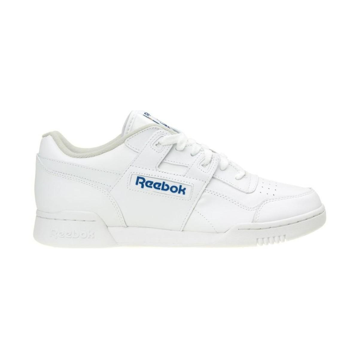 f4101ab3a7090e Reebok Workout Plus Men s Shoes (trainers) In White in White for Men ...
