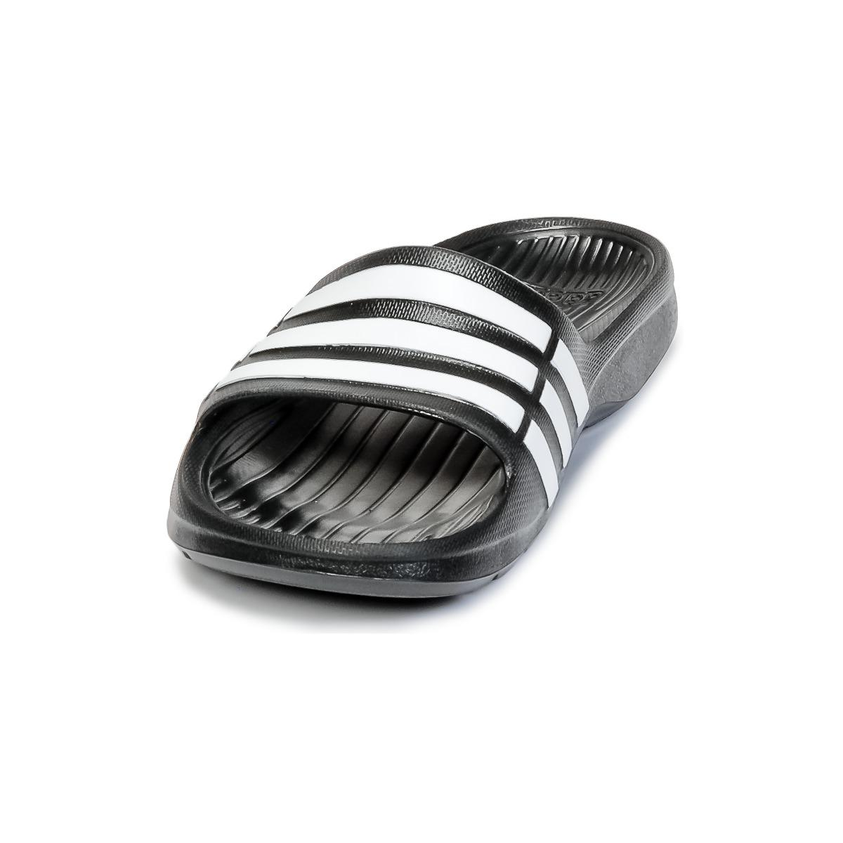 timeless design cab48 ed949 adidas Duramo Slide Womens In Black in Black for Men - Save