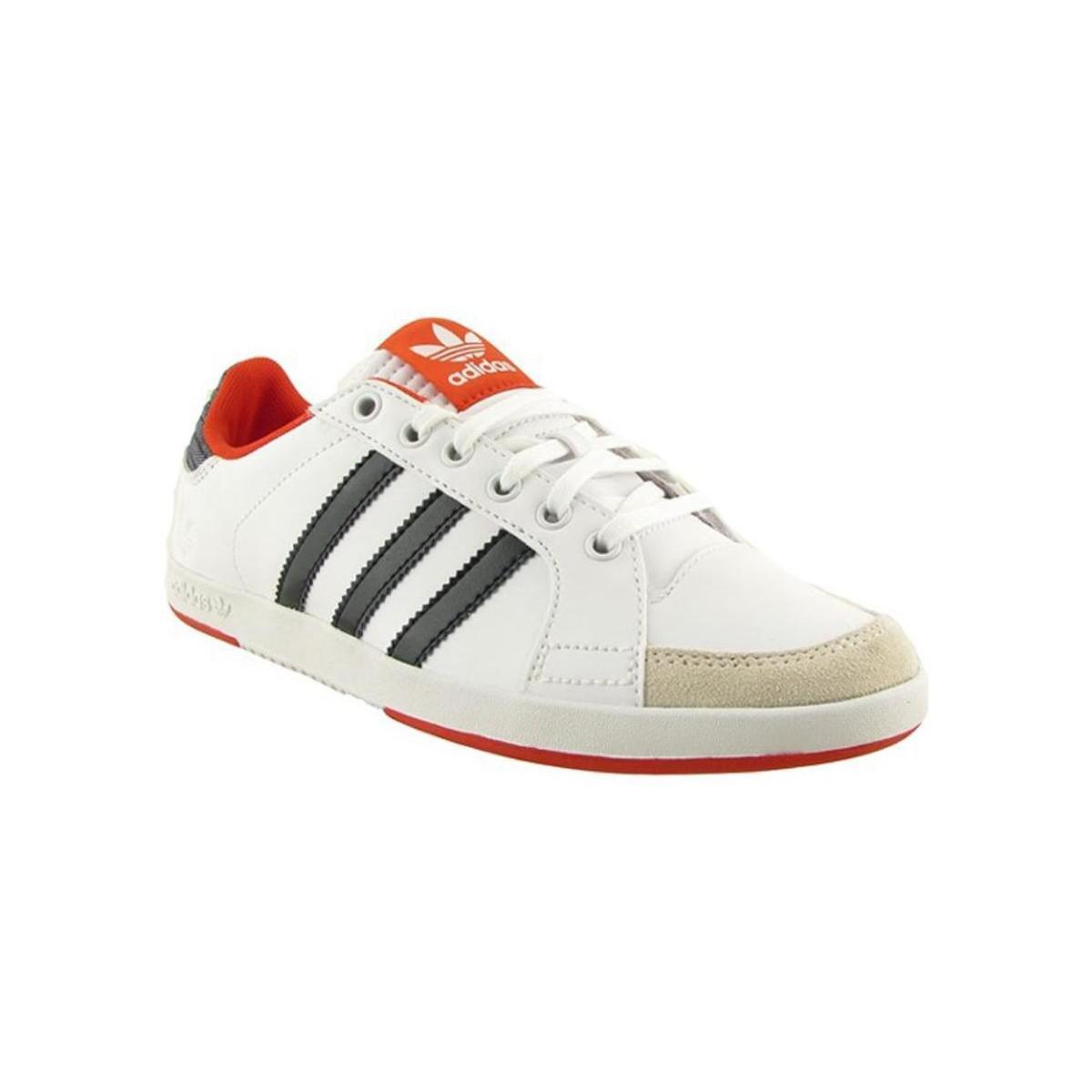 Lyst Adidas Corte Parte Bassa Scarpe Da Donna (Formatori) In Bianco In Bianco.