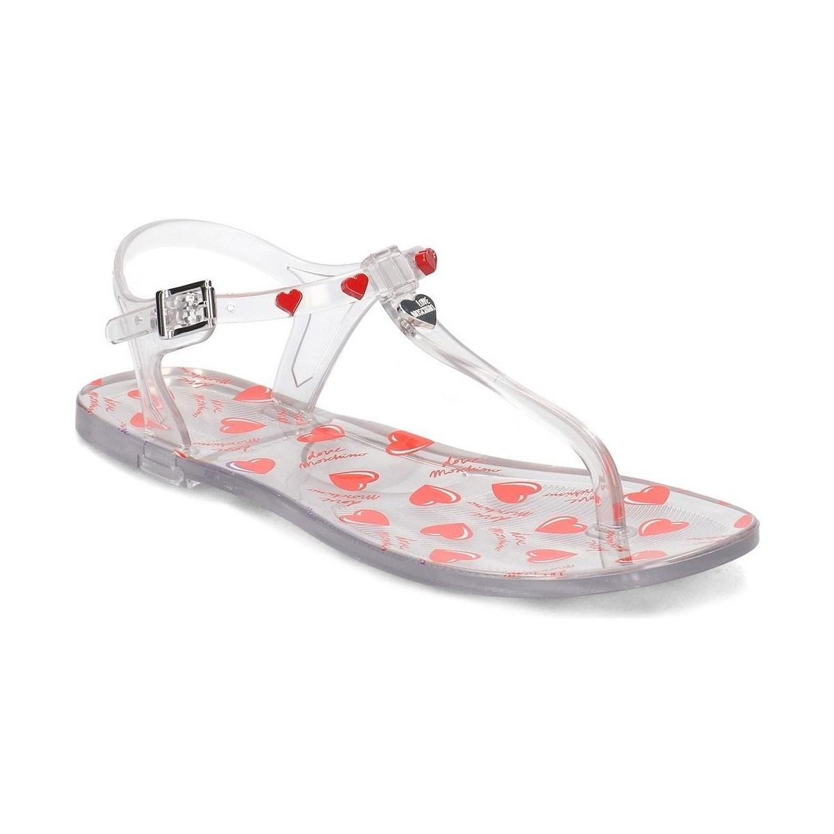 7698a2384dc1 Love Moschino Jelly Women s Sandals In White in White - Lyst