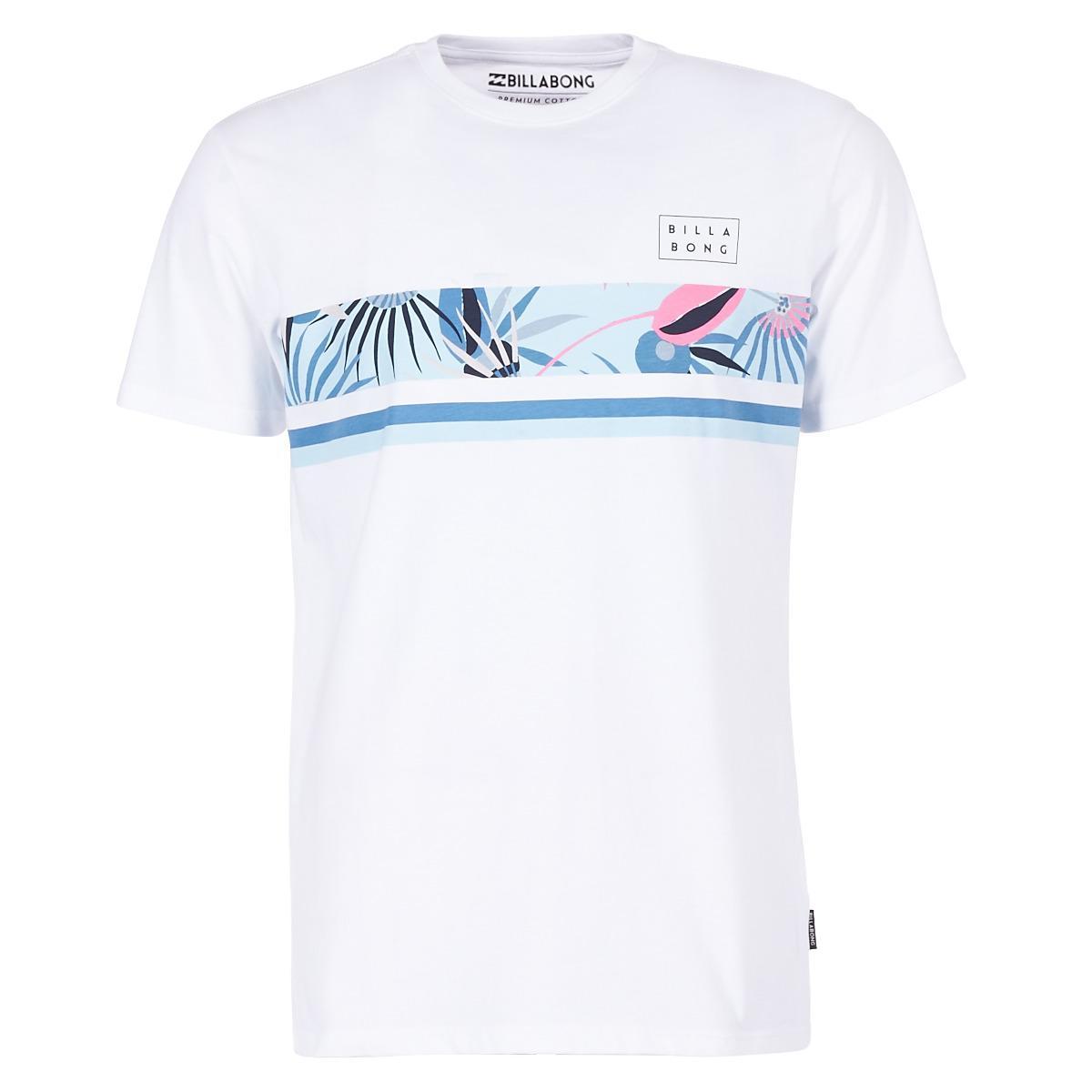 62e0288a Billabong Team Stripe Men's T Shirt In White in White for Men - Lyst