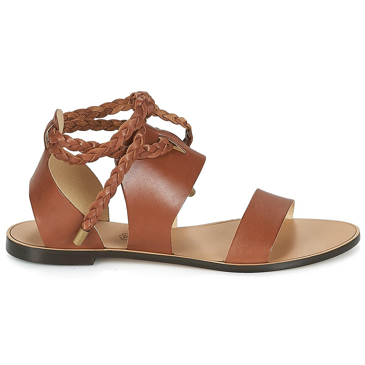 70aa631198456b ... Ikks Sandale Plate Tressee Women s Sandals In Brown in Brown - Lyst new  arrive e179c  Etro MOCASSIN 3705 Brown Orange ...