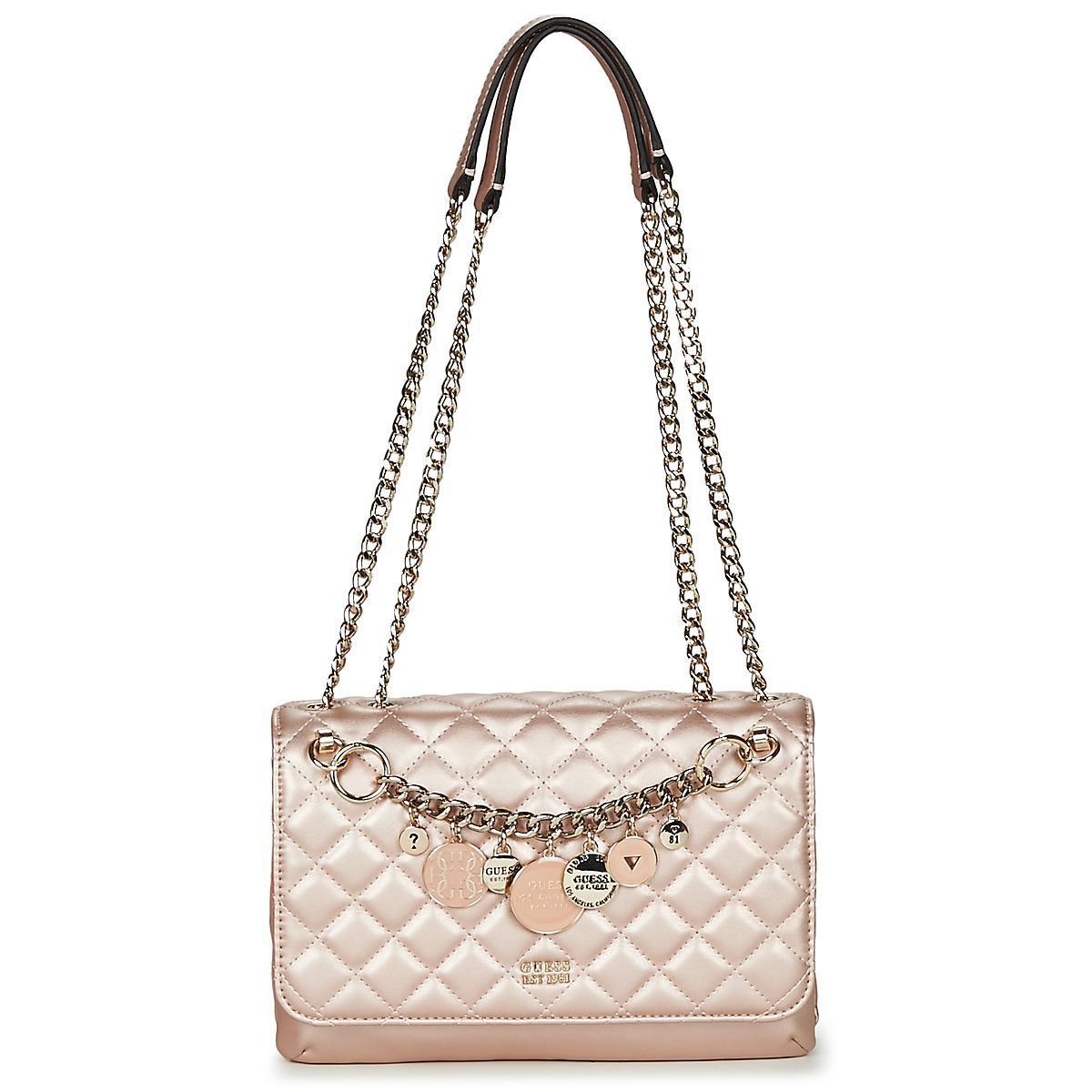 34f97ba9d9 Guess - Victoria Convertible Crossbody Flap Women s Shoulder Bag In Pink  for Men - Lyst. View fullscreen