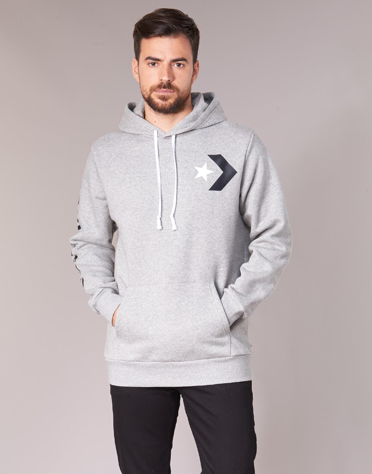 11aa5ddf8595 Converse - Gray Star Chevron Graphic Pullover Hoodie Men s Sweatshirt In  Grey for Men - Lyst. View fullscreen