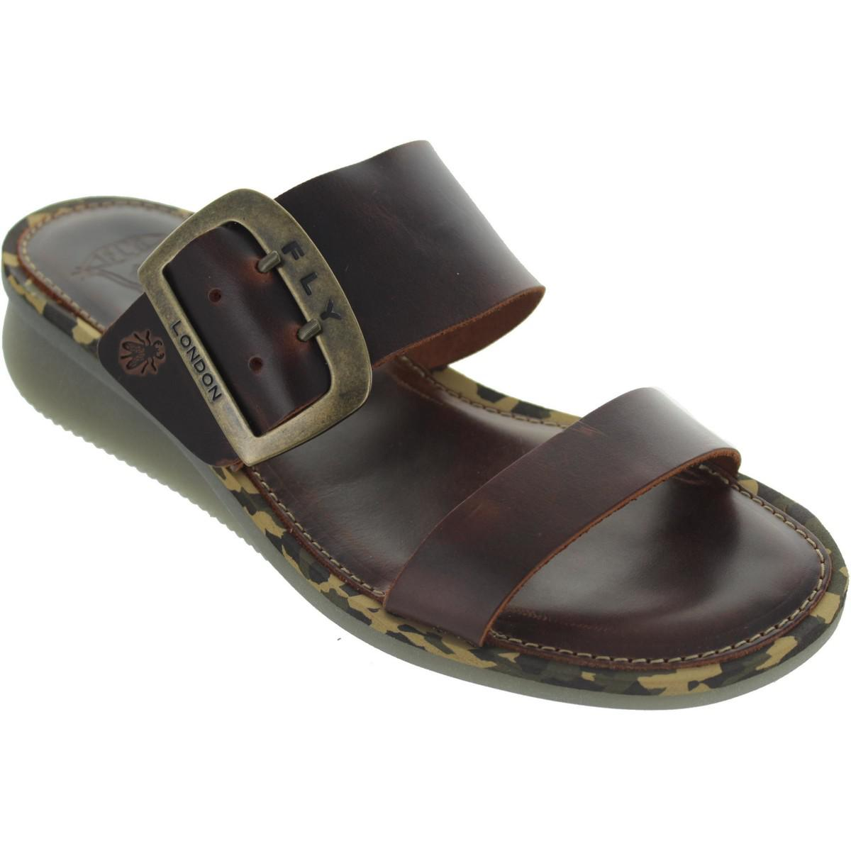 9695c28fc76c3f Fly London Cape Women s Sandals In Brown in Brown - Lyst