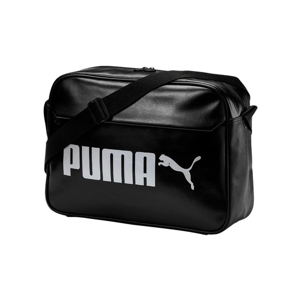 Puma Campus Reporter Bag Women s Shoulder Bag In Black in Black - Lyst 6e10ca11686