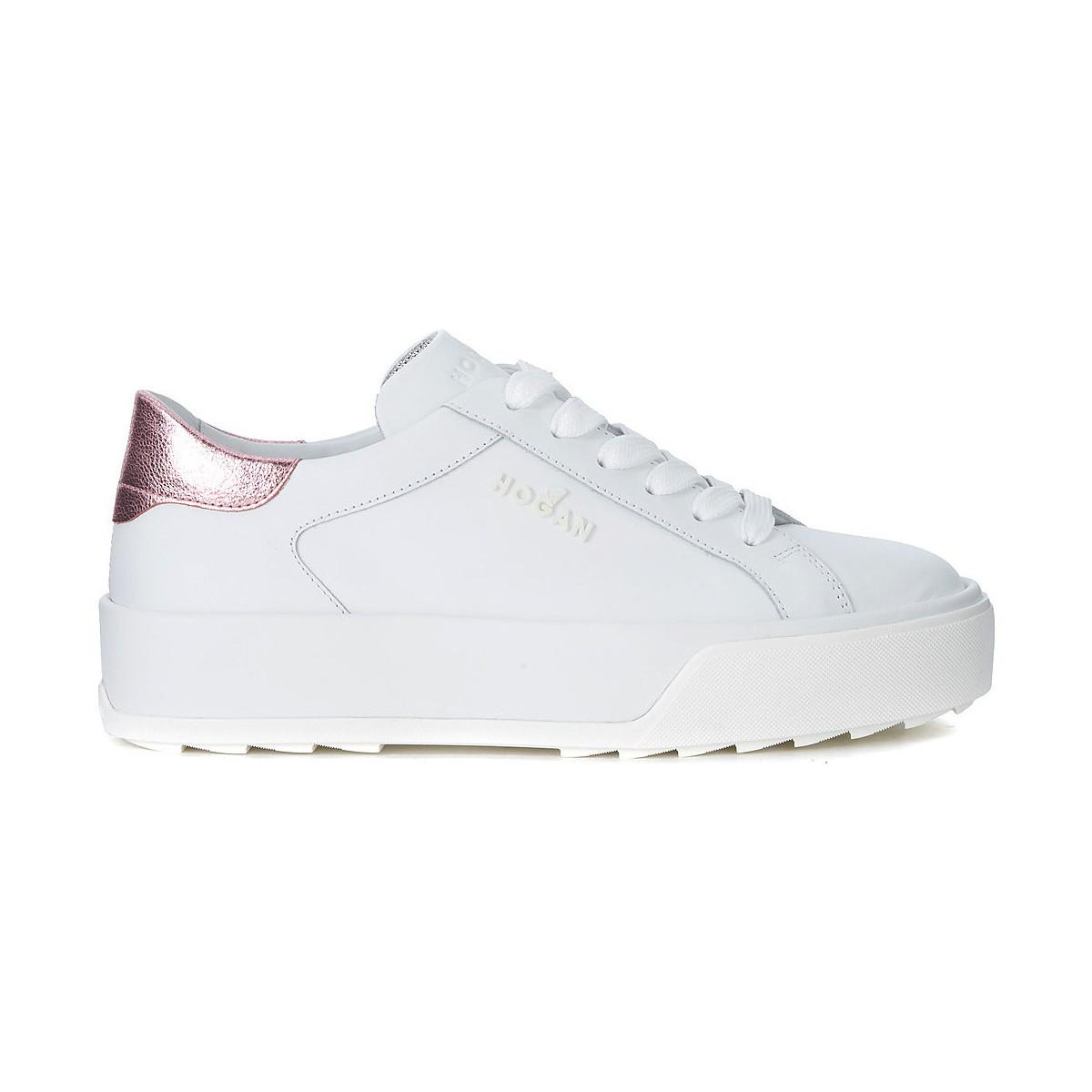 Hogan H320 White Leather And Metal Pink Snaker The Cheapest Clearance Genuine Sale Online Cheap Outlet Looking For qMuRw8hFA