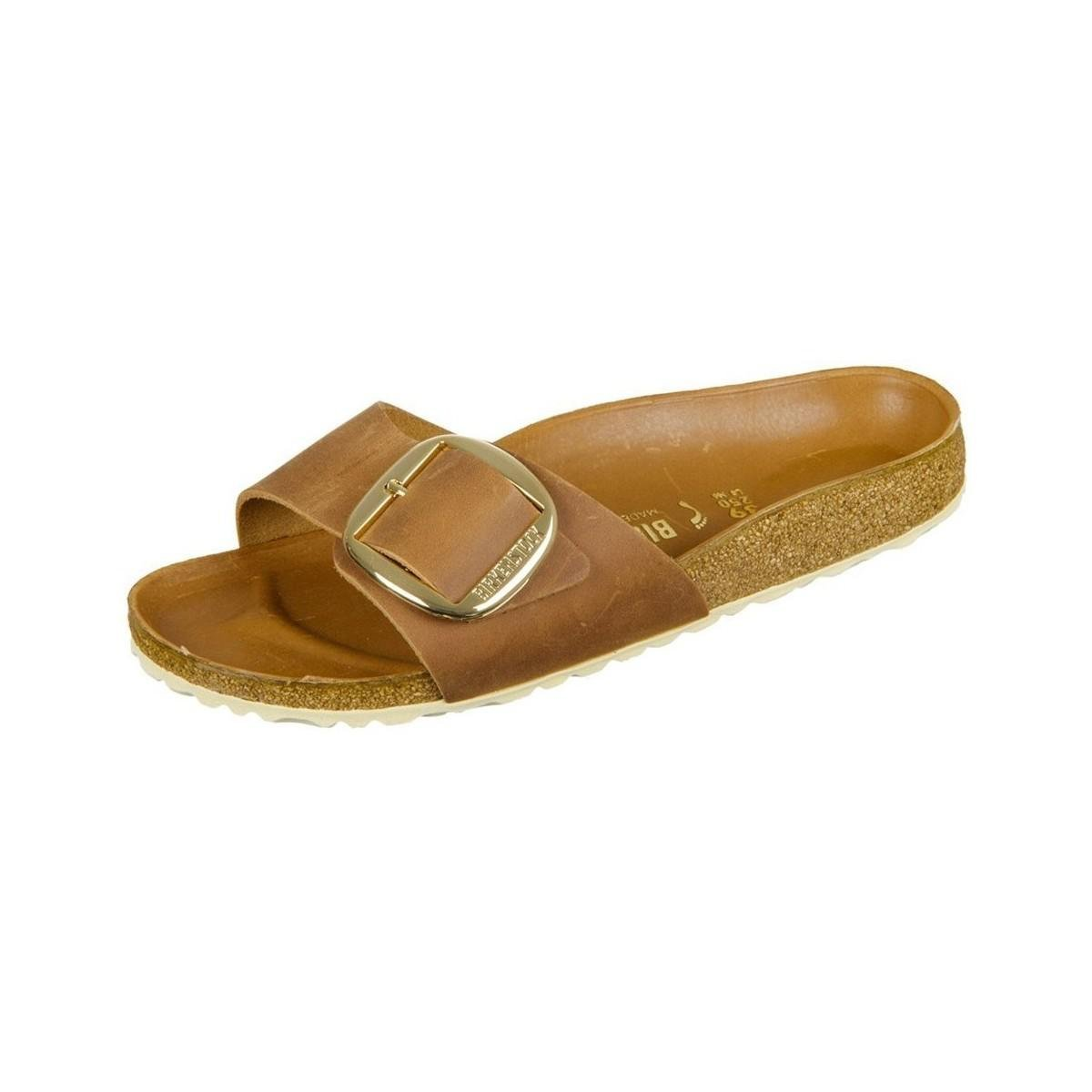 702724a48be Birkenstock Madrid Big Buckle Cognac Natural Leather Women s Mules ...