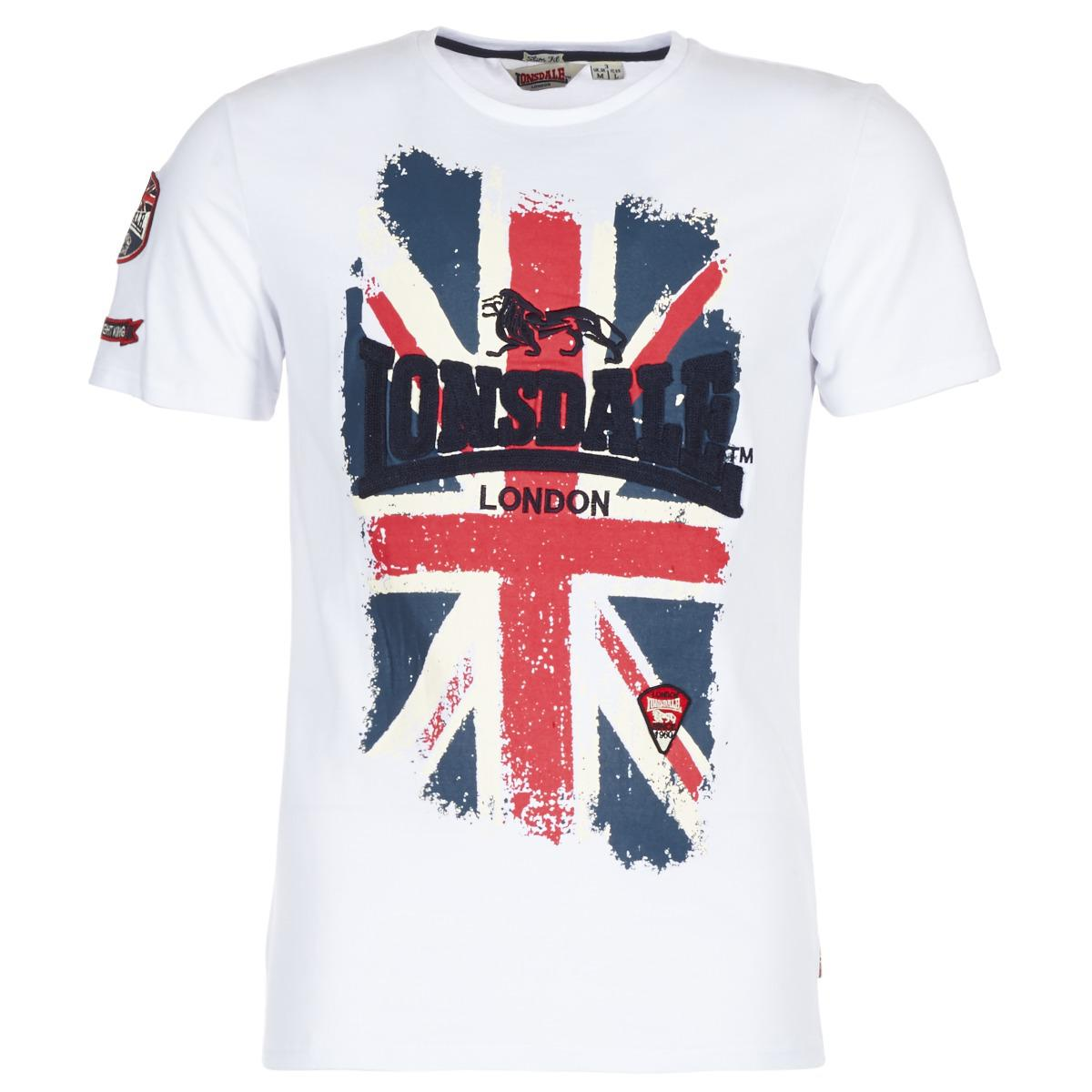 aecdac25 Lonsdale London Jacob Men's T Shirt In White in White for Men - Lyst