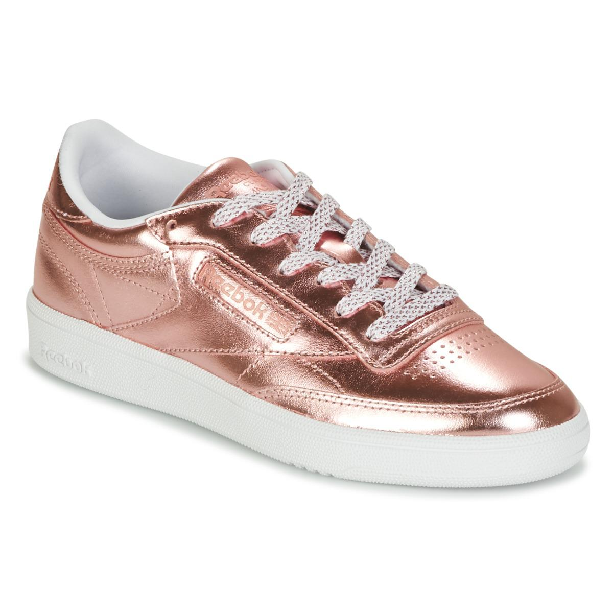 fac611a25851 Reebok Club C 85 S Shine Women s Shoes (trainers) In Pink in Pink - Lyst