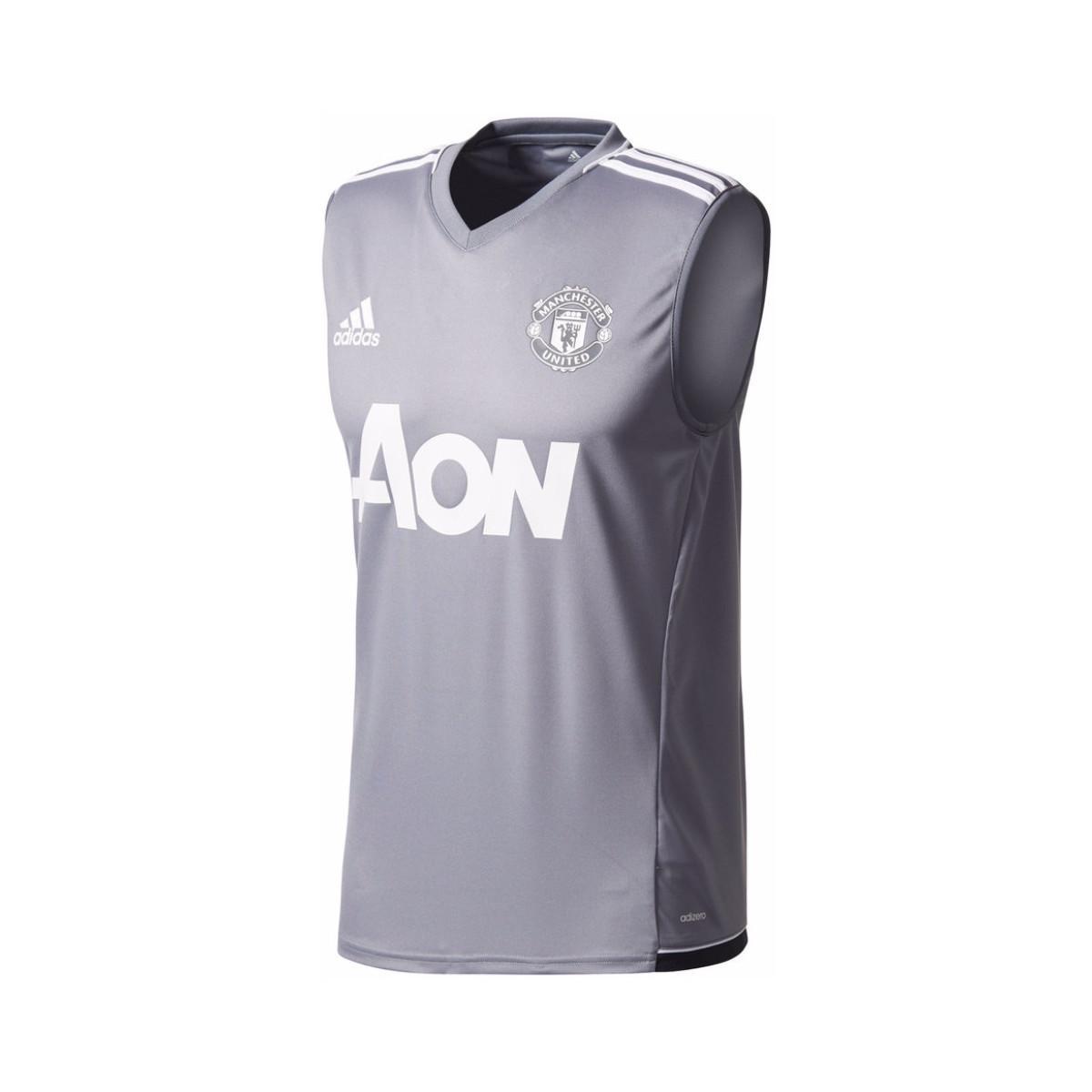 9a91e587e adidas 2017-2018 Man Utd Sleeveless Training Shirt Men s Vest Top In ...