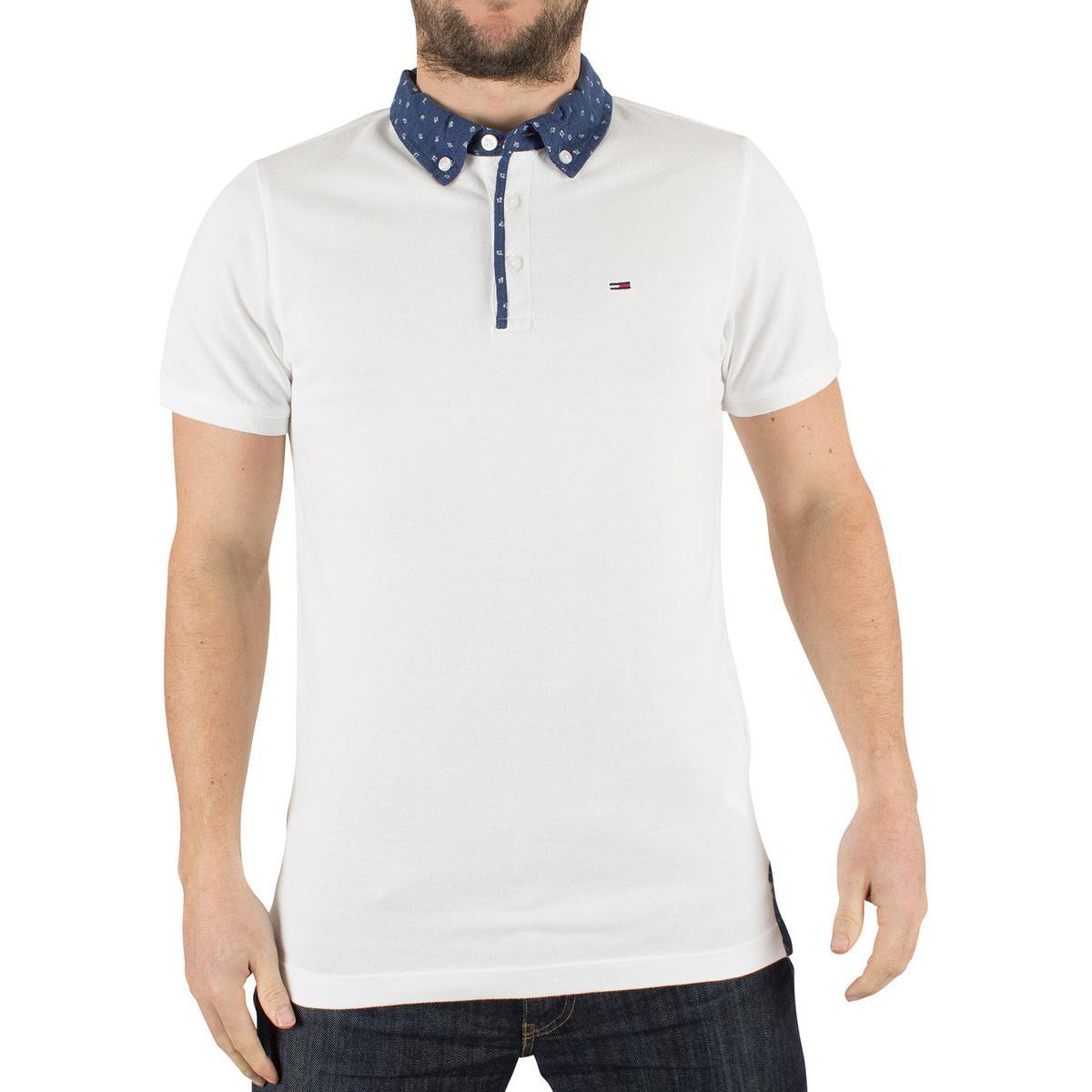 6aee25fdc Tommy Hilfiger Hilfiger Denim Men's Detail Button Down Logo Polo ...