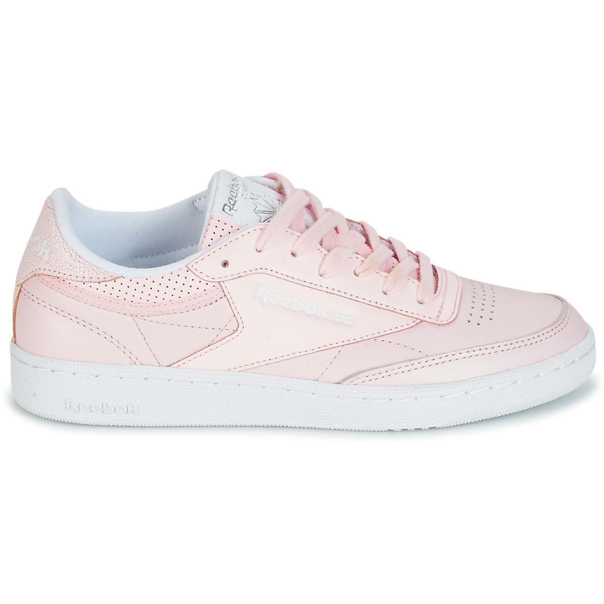 82b8ae96189 Reebok - Club C 85 Fbt Women s Shoes (trainers) In Pink - Lyst. View  fullscreen