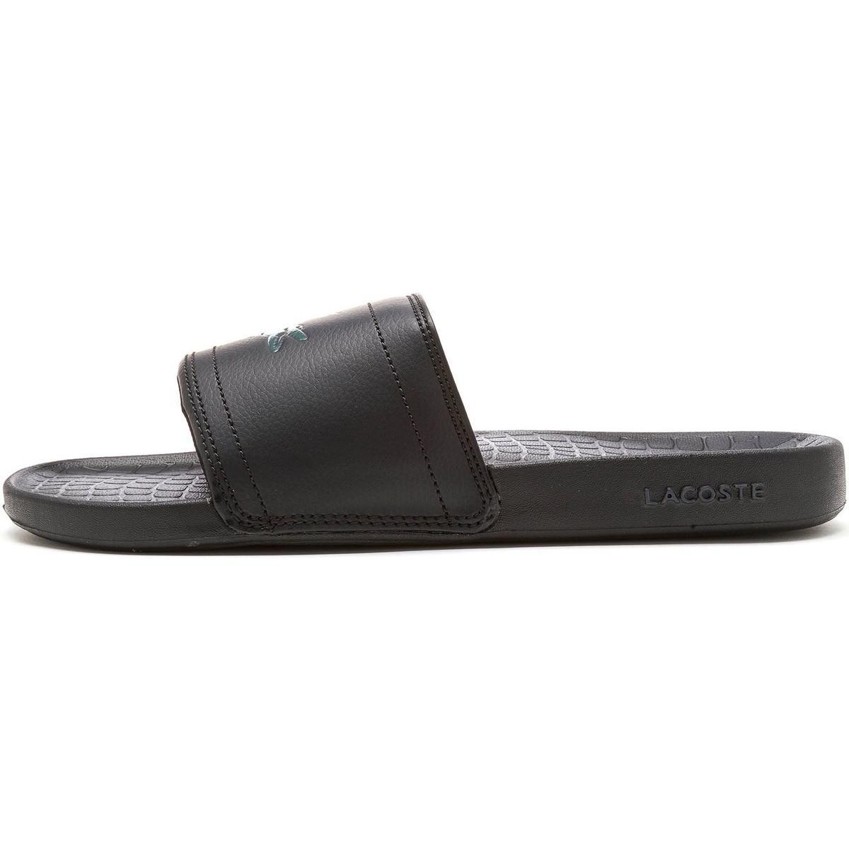 cc528262b Lacoste Fraisier Brd1 Us Spm Slide Pool Beach Sandals In Black ...