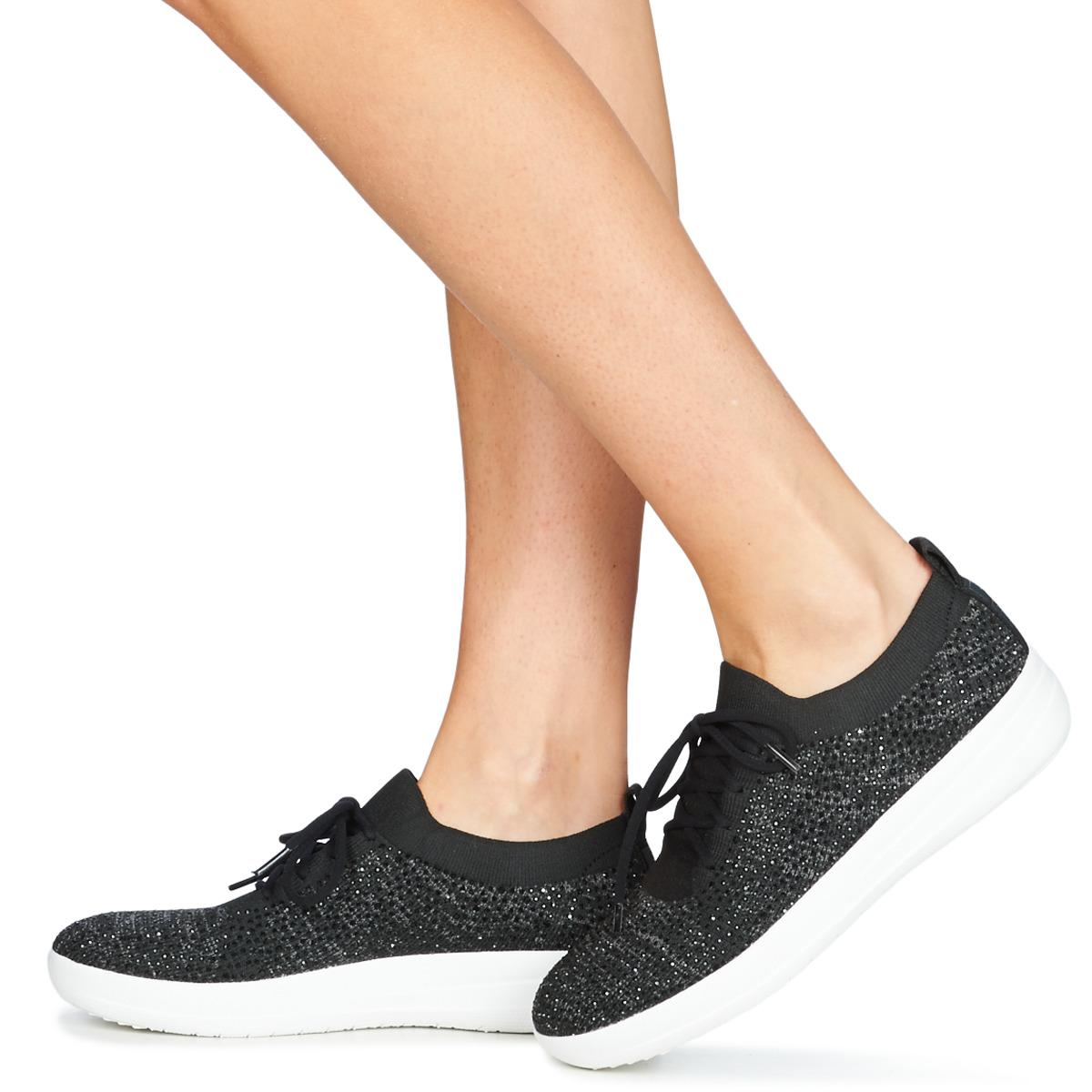 742bc1760 Fitflop F Sporty Uberknit Sneakers Crystal Women s Shoes (trainers ...