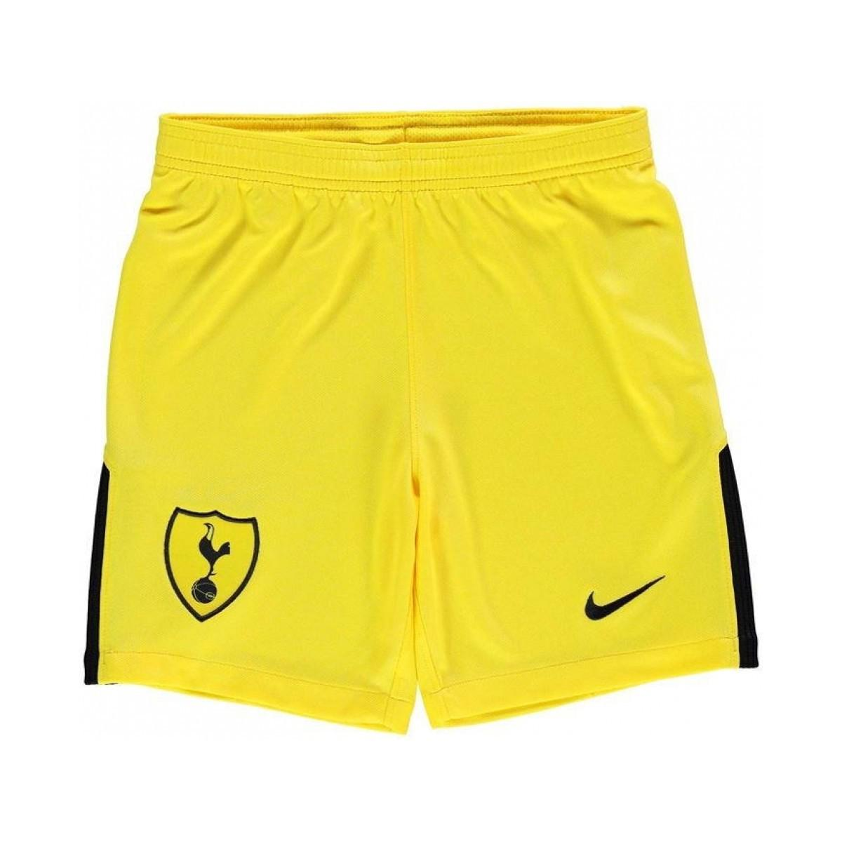 Nike. 2017-2018 Tottenham Home Goalkeeper Shorts - Kids Men s Shorts In  Yellow 067348edf