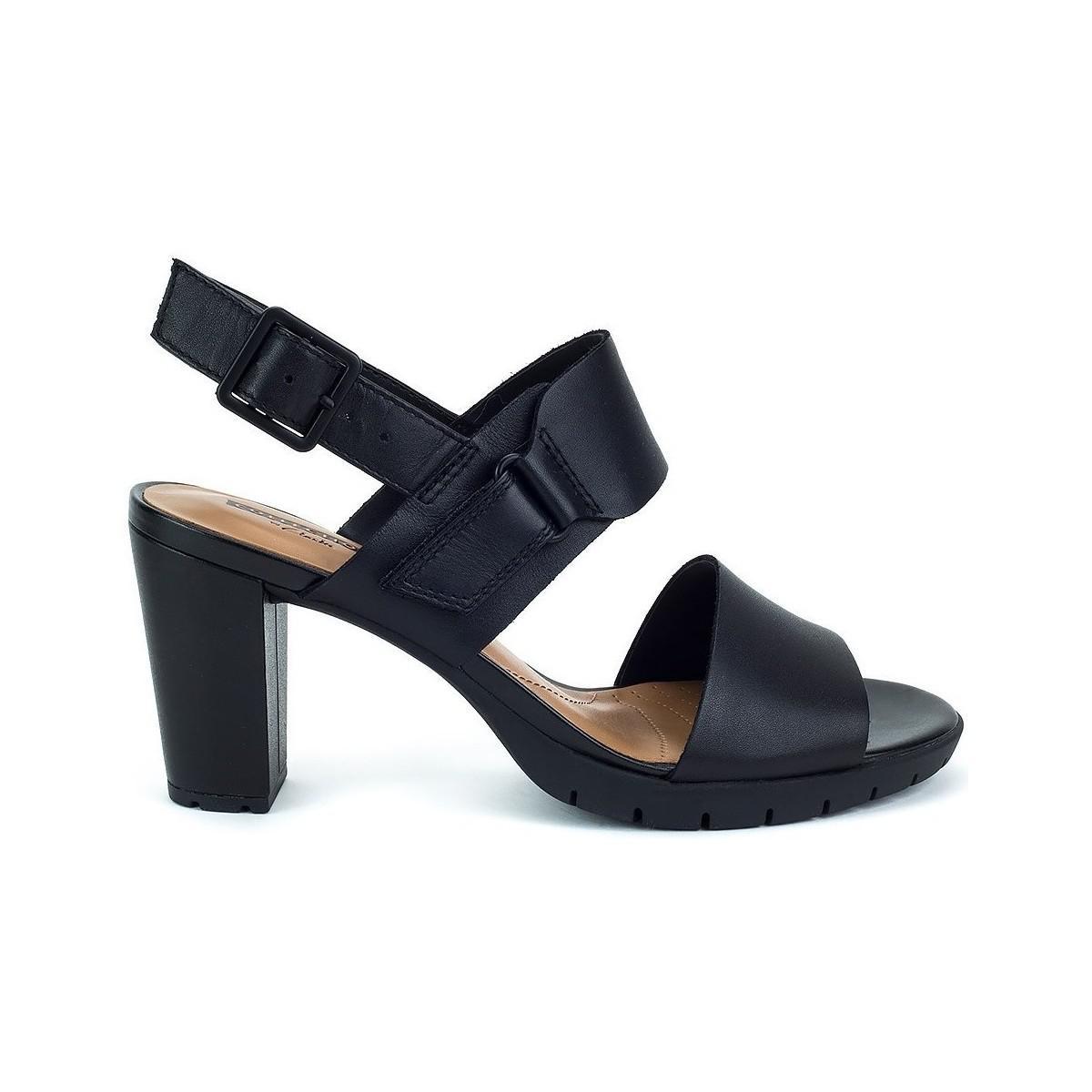 d5e65d2d99fd Clarks Kurtley Shine Women s Sandals In Black in Black - Lyst