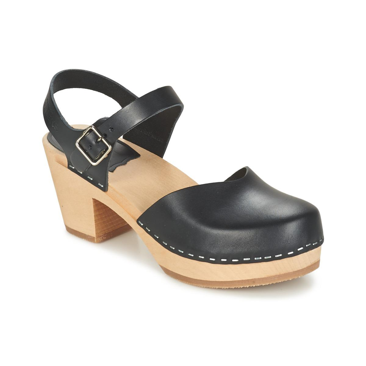Swedish Hasbeens Covered High Women s Sandals In Black in Black - Lyst 9e8fcf2a2