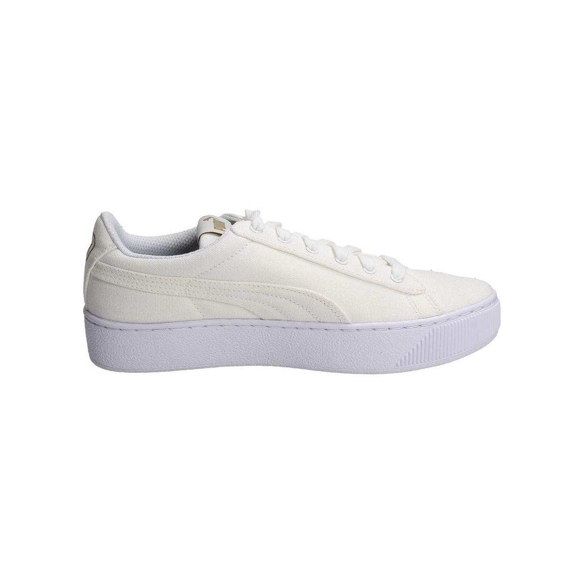 432074df792 PUMA - Vikky Platform Women s Shoes (trainers) In White - Lyst. View  fullscreen