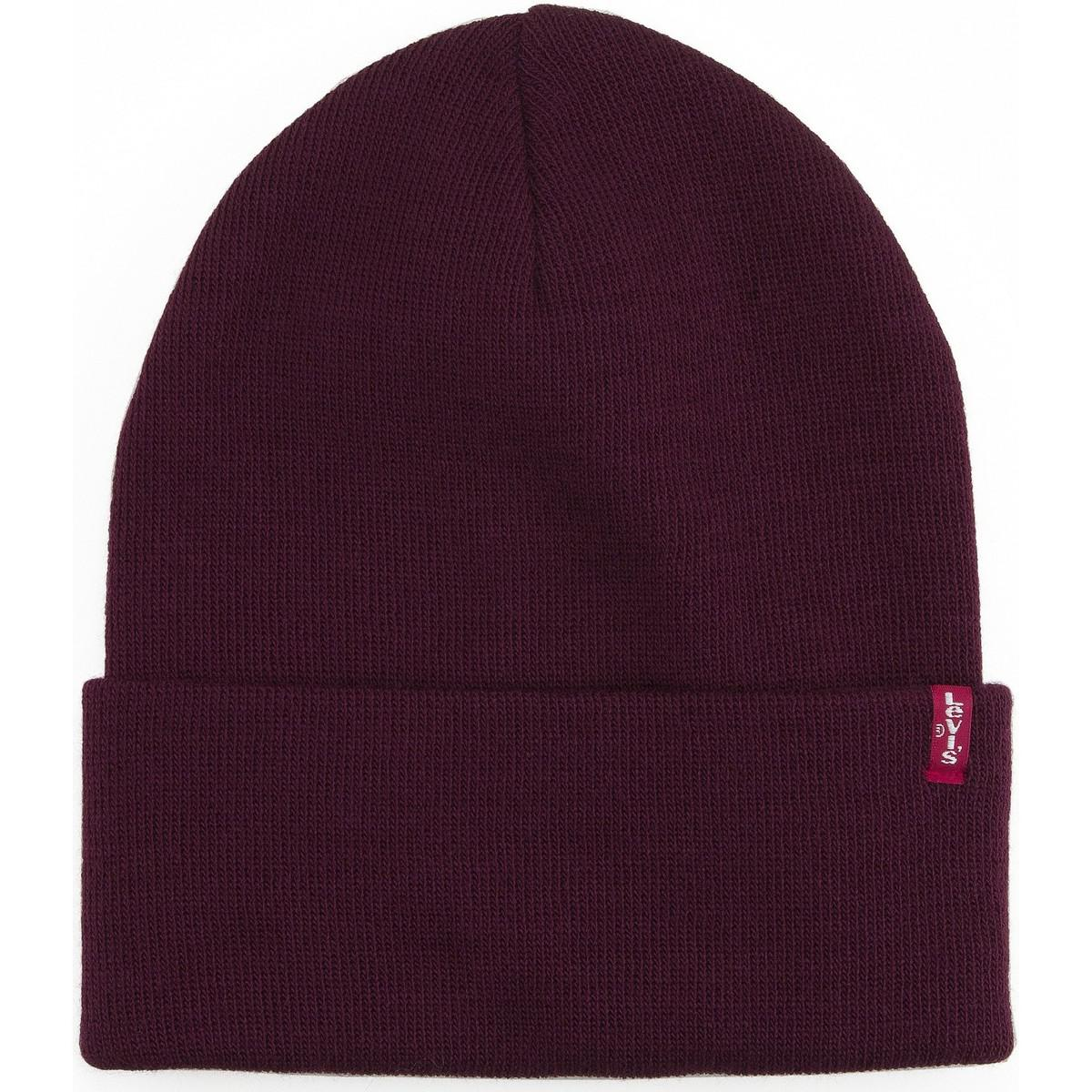Levi S Levis Slouchy Red Tab Beanie - Dark Bordeaux Men s Beanie In ... 75ad5355c192