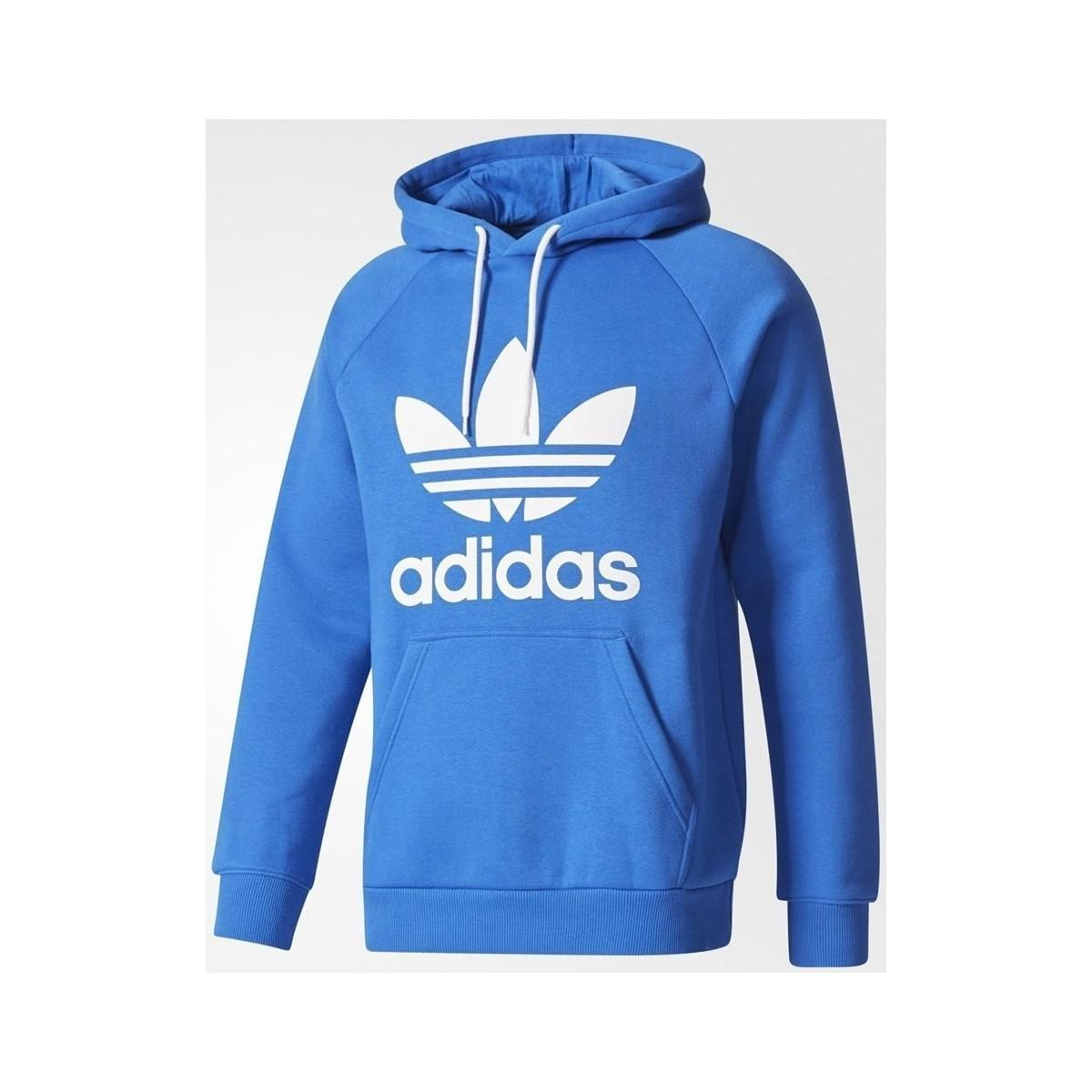 best website 298df 11f27 Adidas - Originals Trefoil Men s Sweatshirt In Blue for Men - Lyst. View  fullscreen