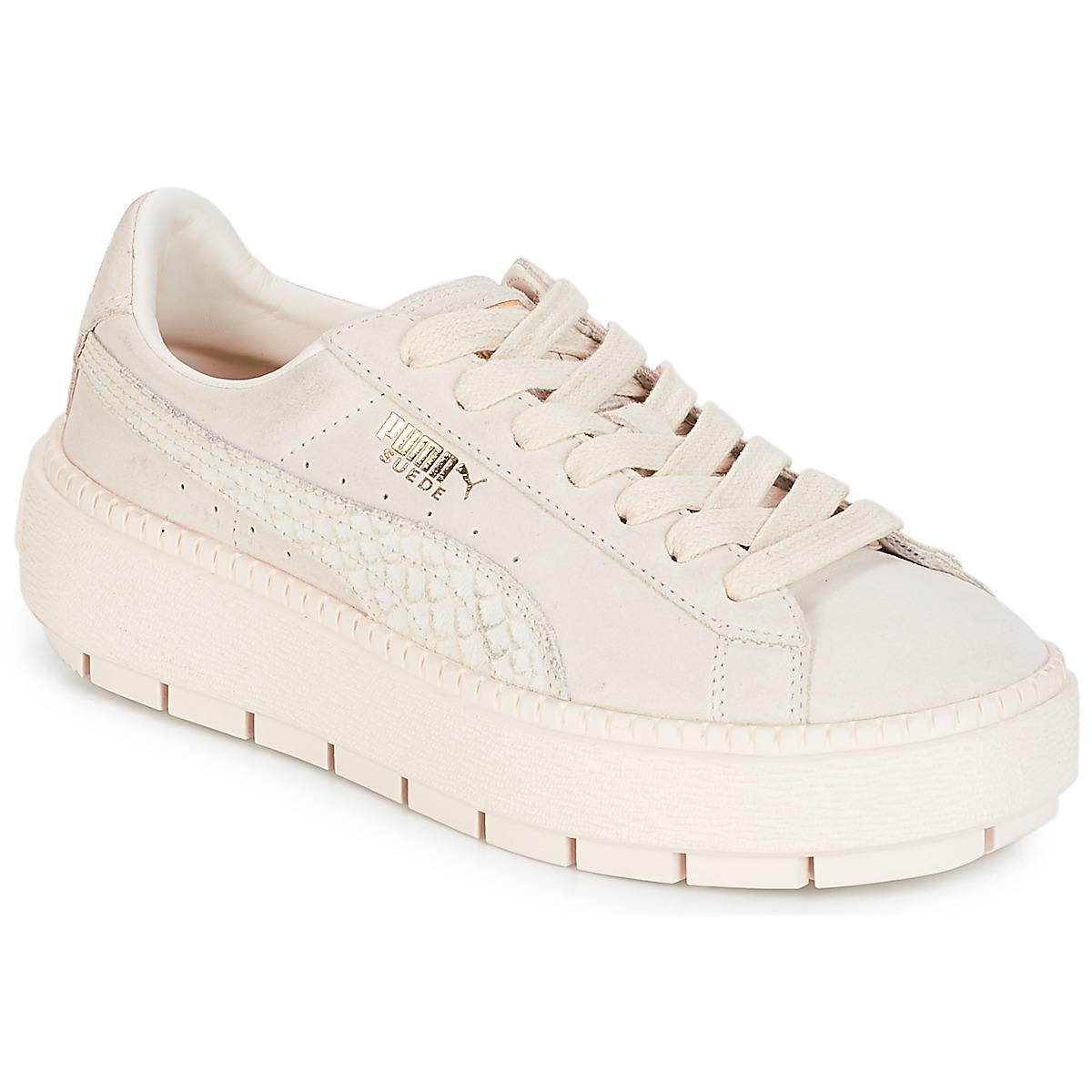 a7272fc90ab2 PUMA Wn Platform Trace Animal.w Shoes (trainers) in White - Save 12 ...