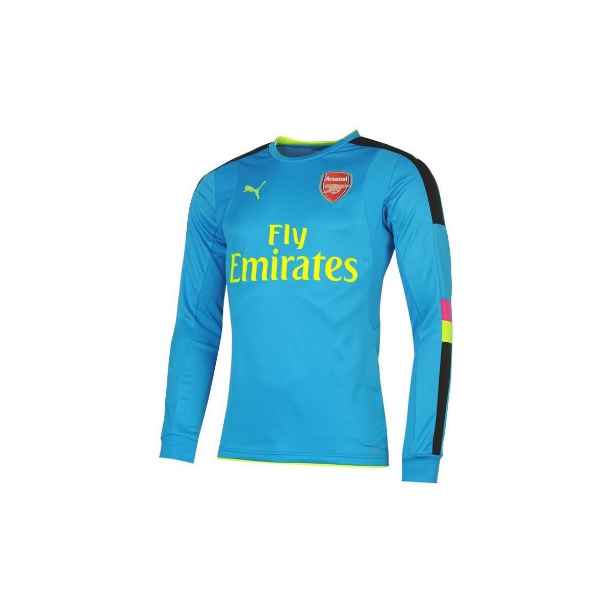 41a08c24 PUMA - 2016-17 Arsenal Away Goalkeeper Shirt (cech 33) Women's In Blue.  View fullscreen