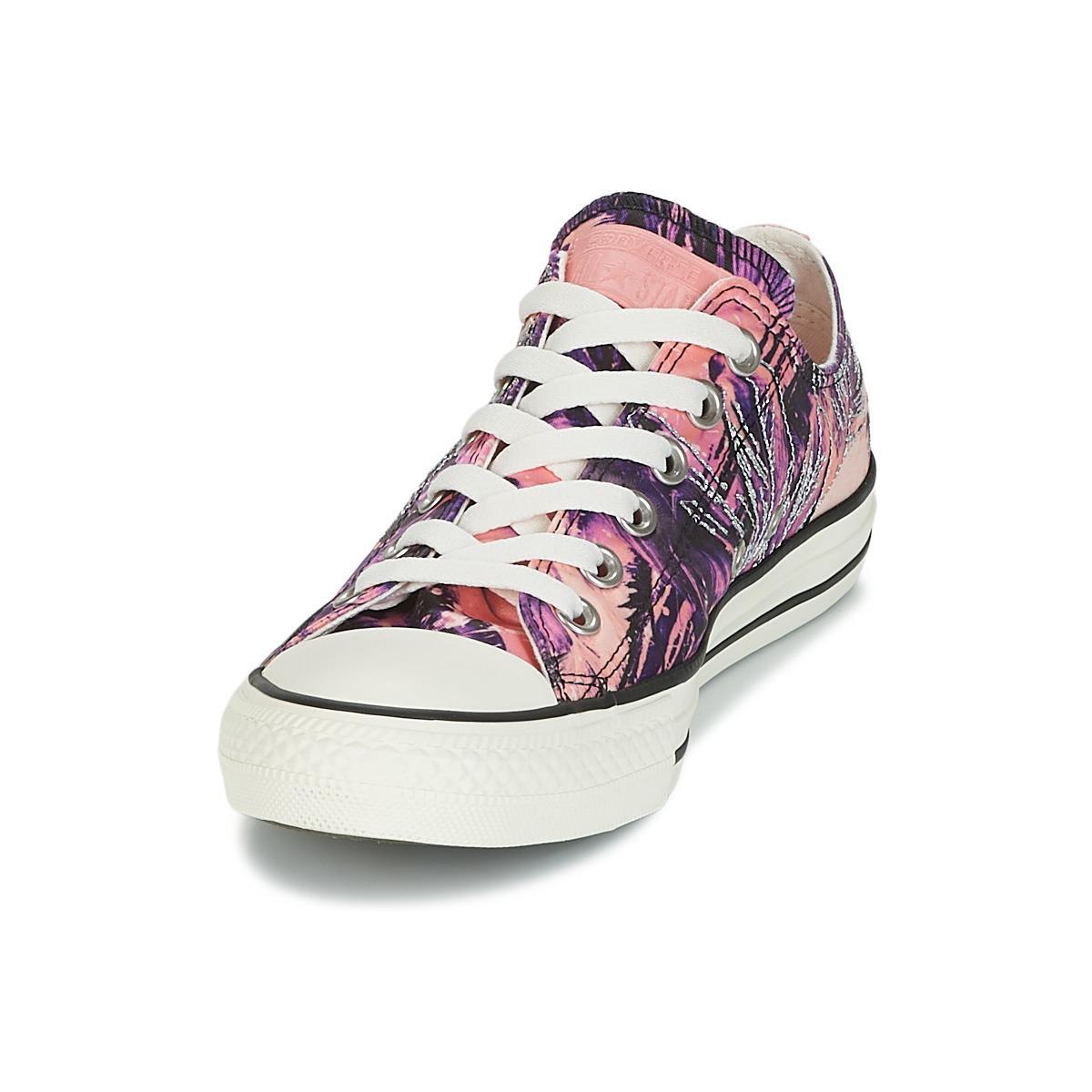 d6bdfa3909b1 Converse Chuck Taylor All Star Ox Feather Print Women s Shoes ...