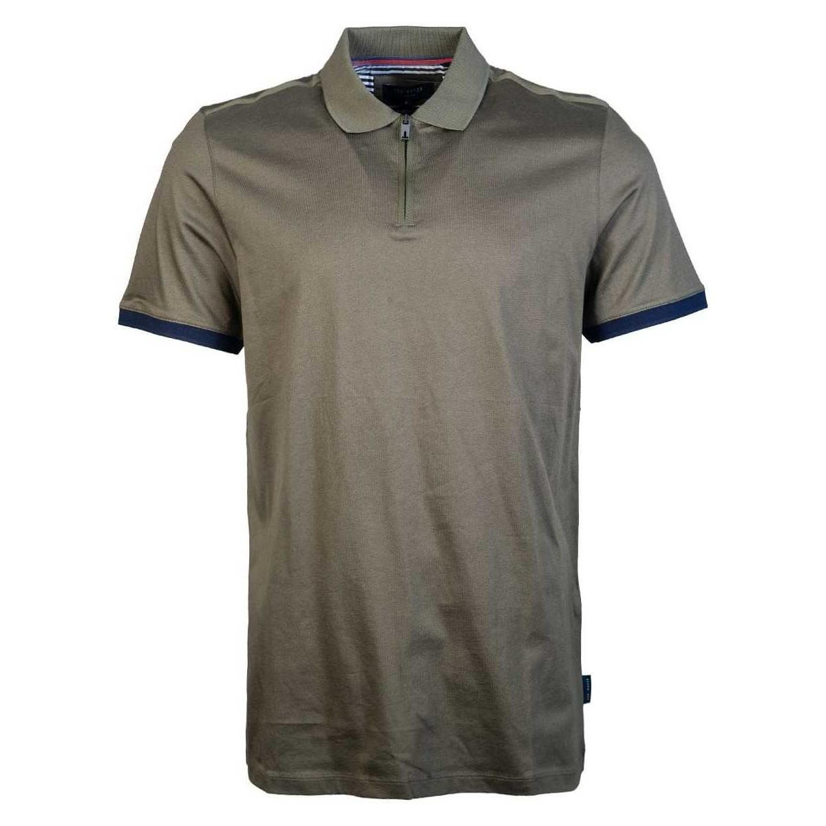 97c3d113e26a0 Ted Baker Polo Shirt Tc8m   Gba7   Snika Men s Polo Shirt In Green ...