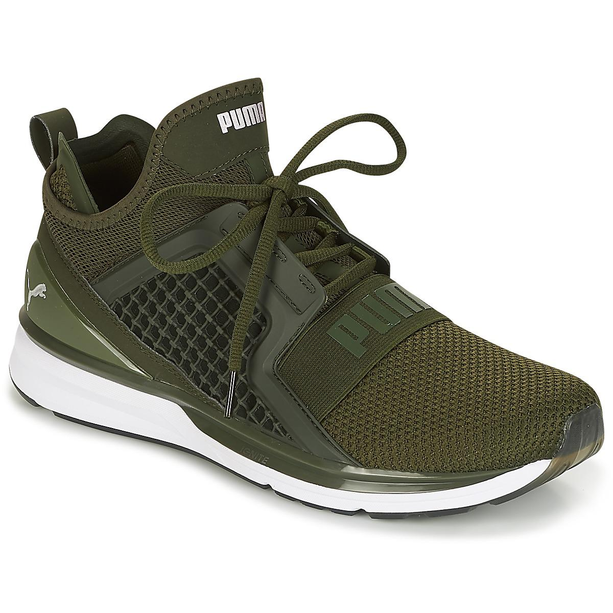 PUMA Ignite Limitless Weave Men s Running Trainers In Green in Green ... 4025744bd