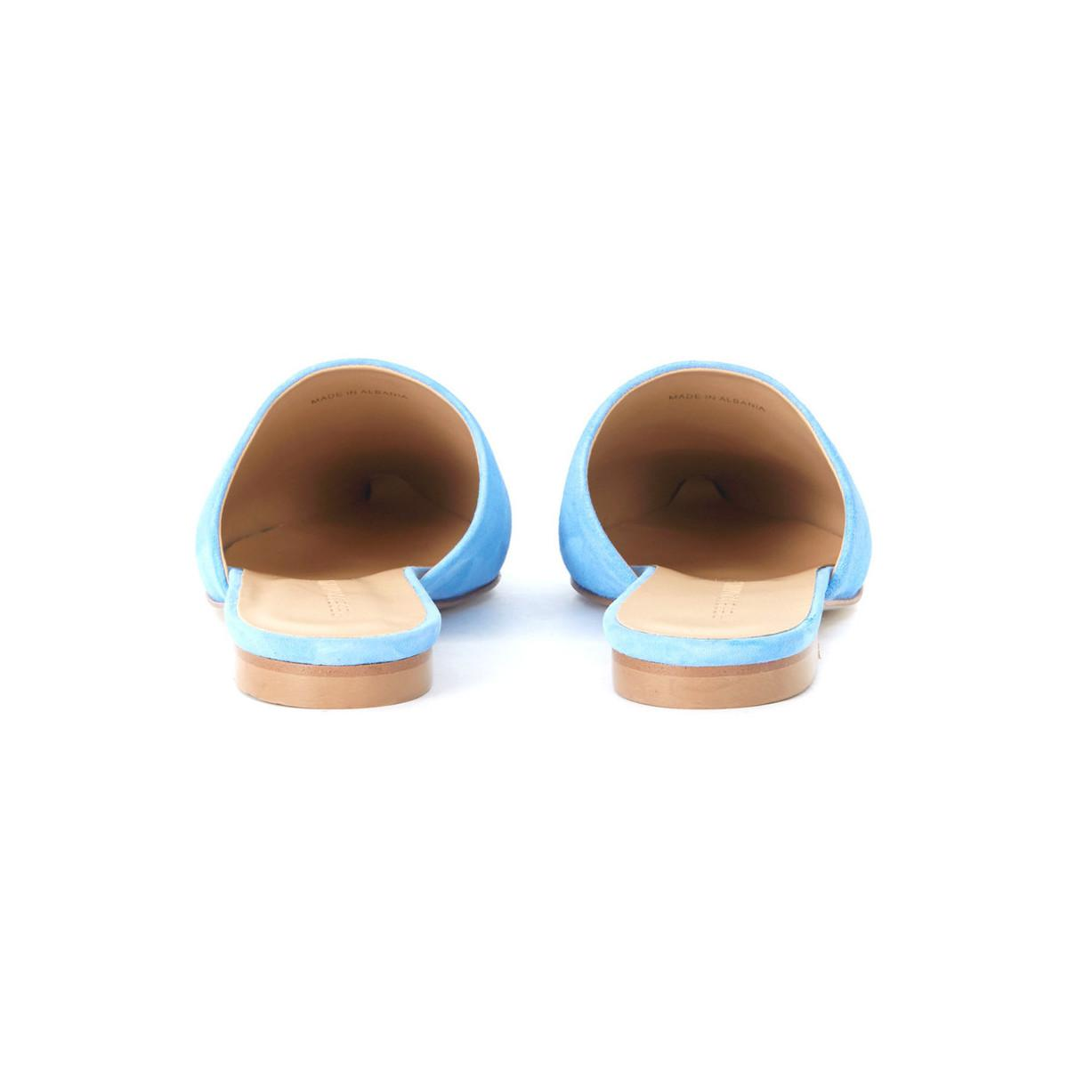 7475d77861c73 Tap to visit site. Rebecca Minkoff - Sara Light Blue Suede Mules Women's In  Other for ...