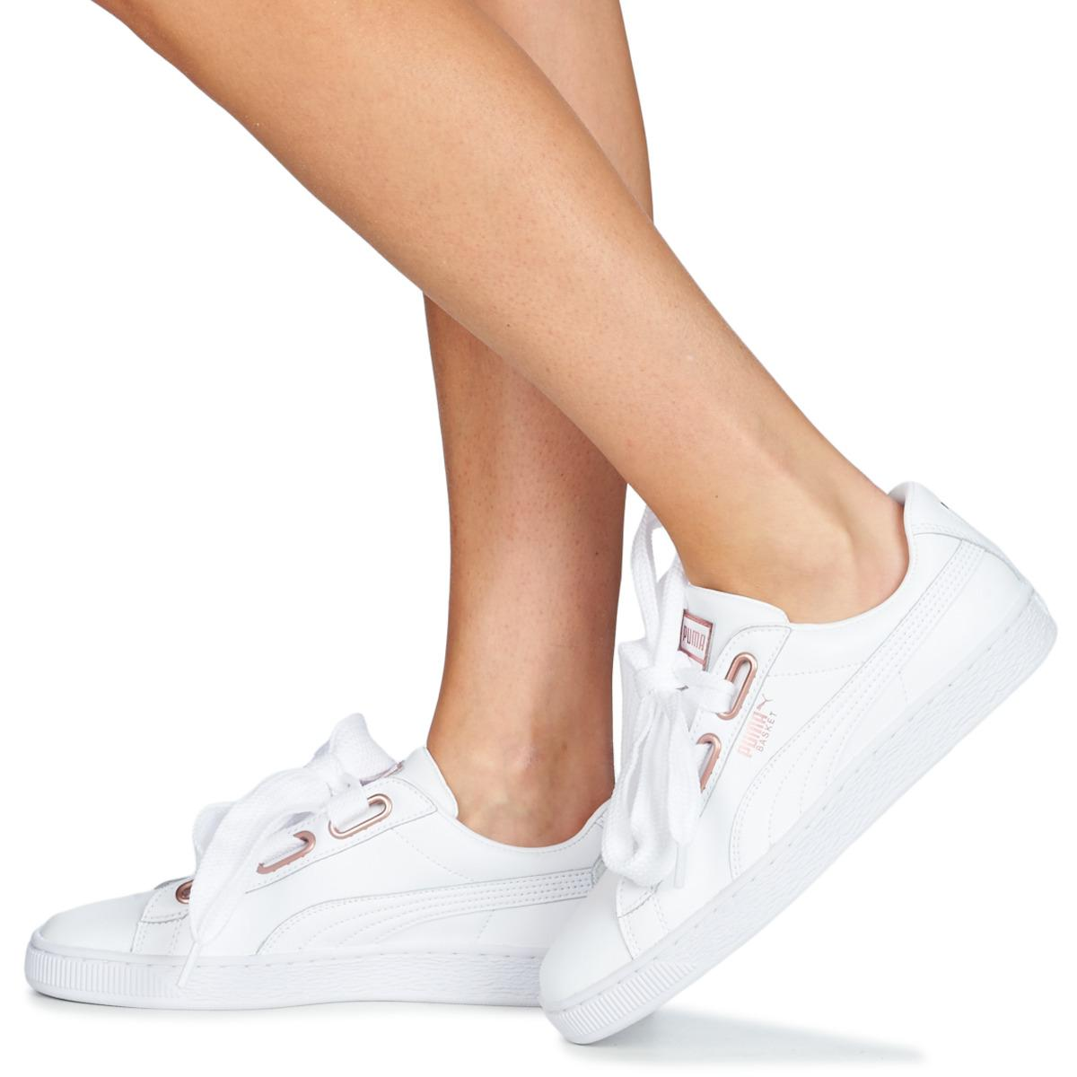 24066b6d90b PUMA Wn Suede Heart Leather.whi Shoes (trainers) in White - Lyst