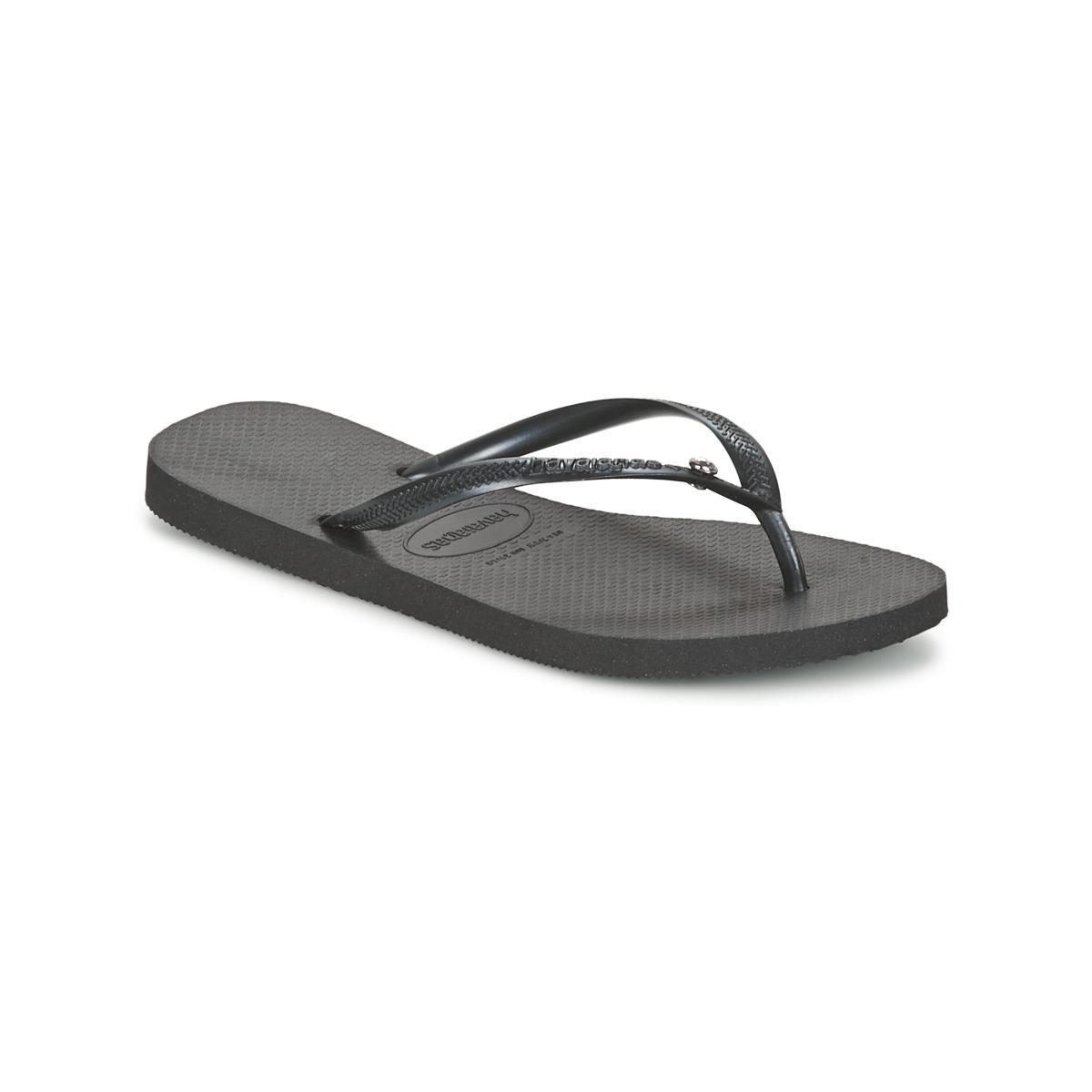 d805aa9477730e Havaianas Slim Crystal Glamour Women s Flip Flops   Sandals (shoes ...