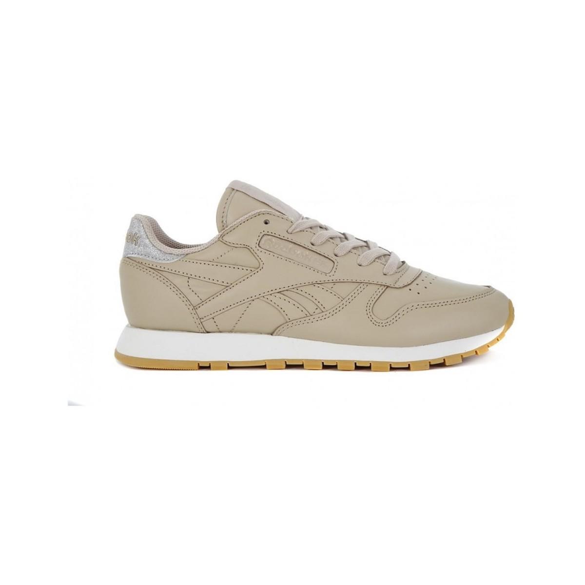 02267002e26 Reebok Classic Lthr Met Diamond Women s Shoes (trainers) In Beige in ...