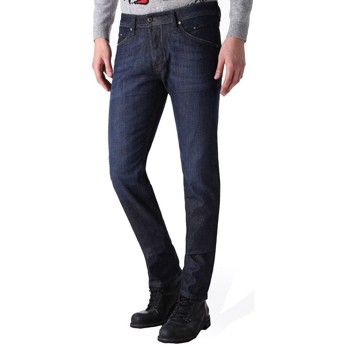 3ac55f5e Diesel Jeans Belther 0844c Mens Slim Tapered Fit Denim Jeans Women's ...
