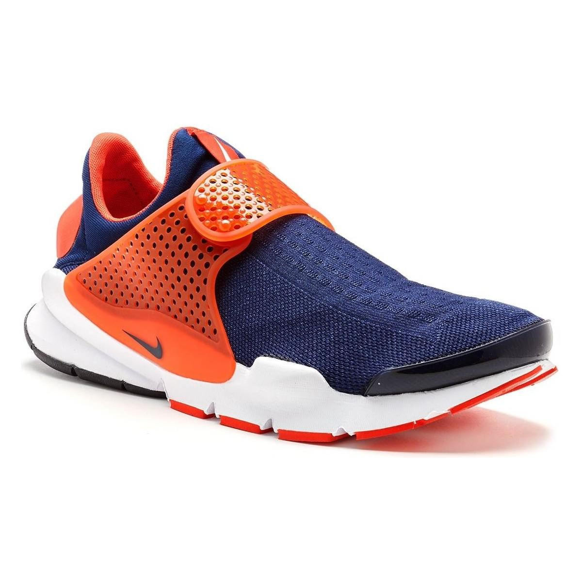 first rate c7d51 7d201 ... cheapest nike. sock dart trainers in midnight navy blue max orange  819686 40 womens faee9