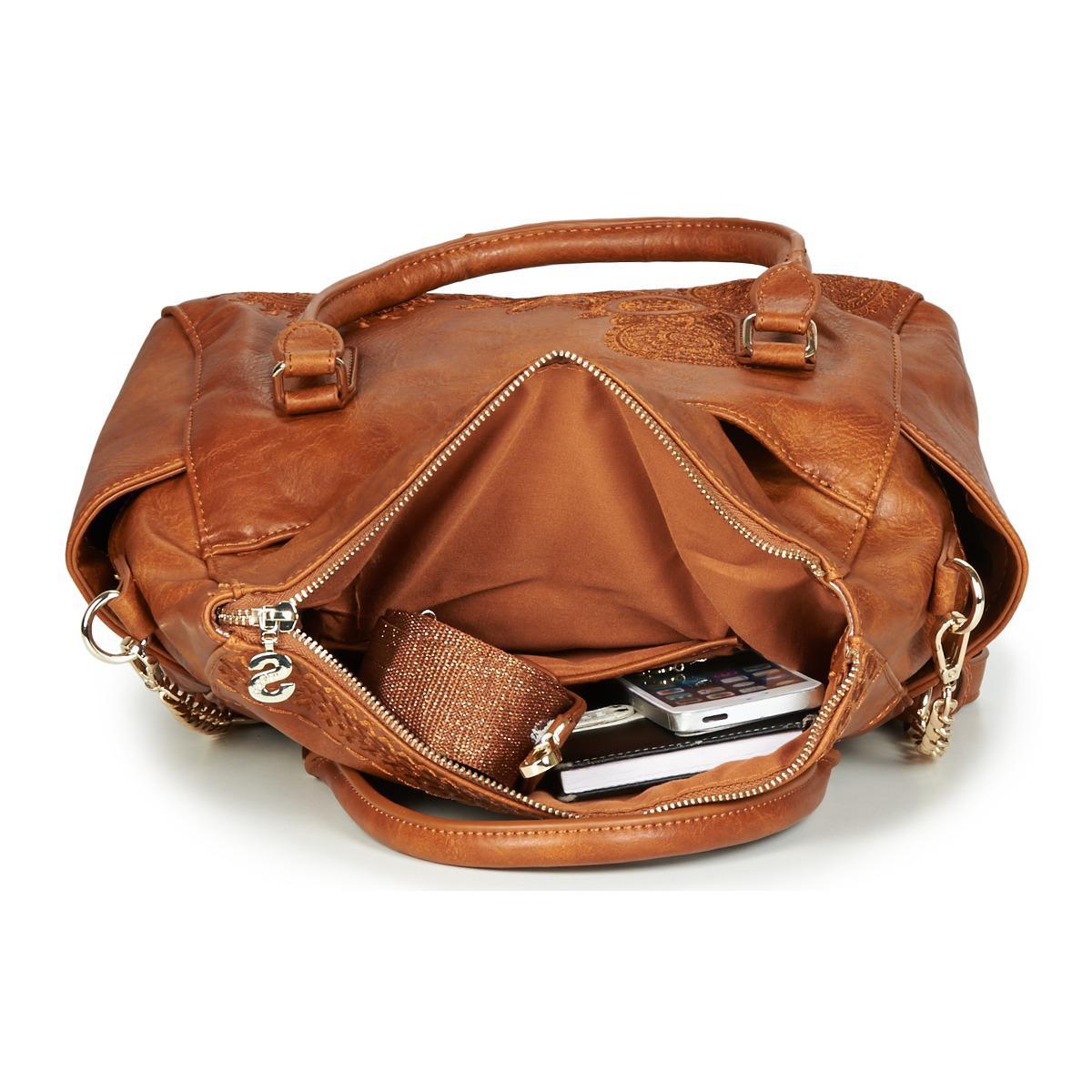 92dc4ed50d8 Desigual Bols Dark Amber Loverty Women s Handbags In Brown in Brown ...
