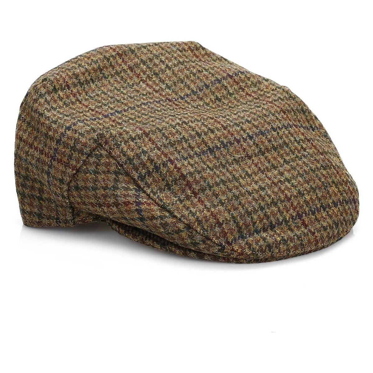 829a0c94250 Barbour Mens Dark Olive Check Crieff Cap Men s Hat In Green in Green ...
