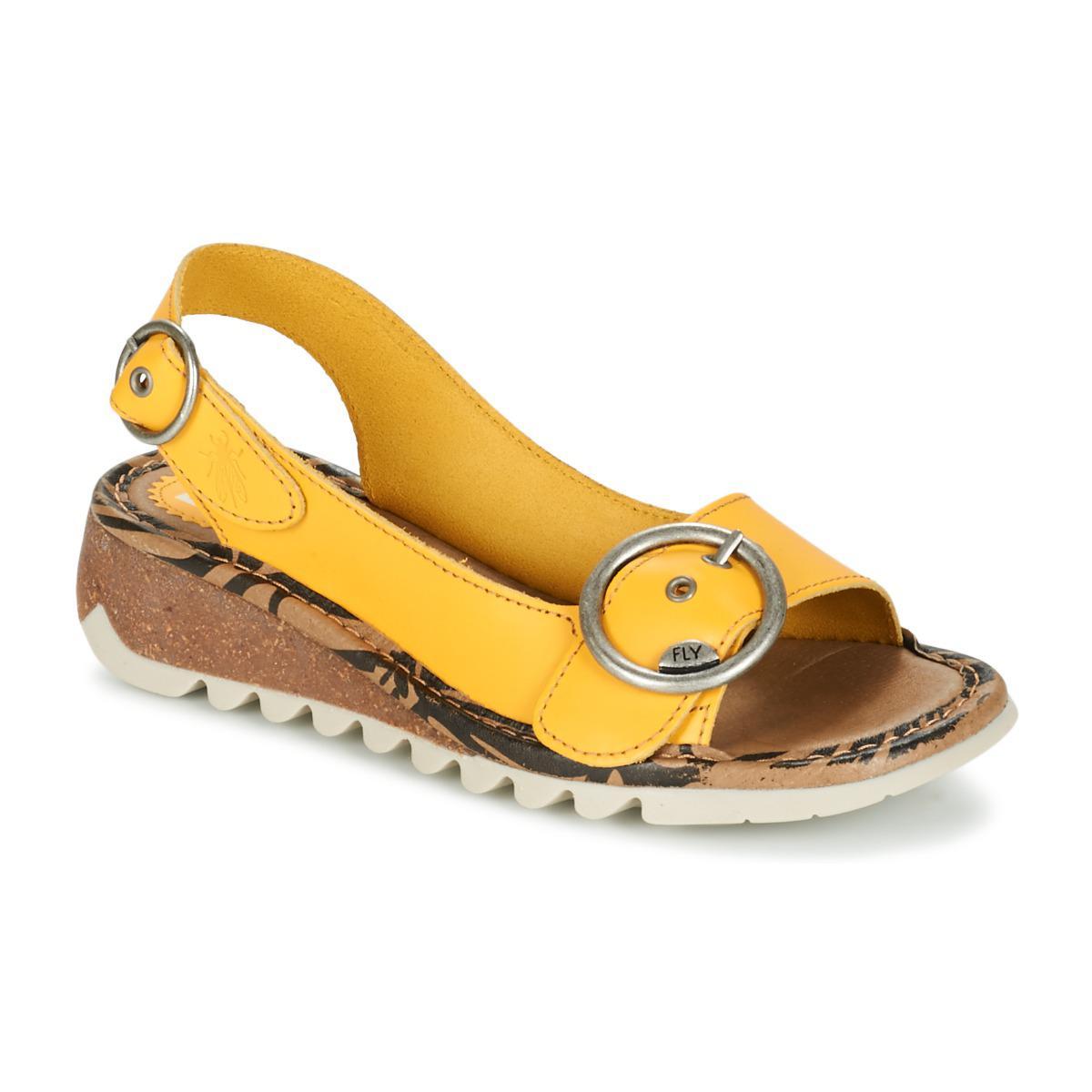 0bee5ff5d3c4c Fly London Tram Women's Sandals In Yellow in Yellow - Lyst