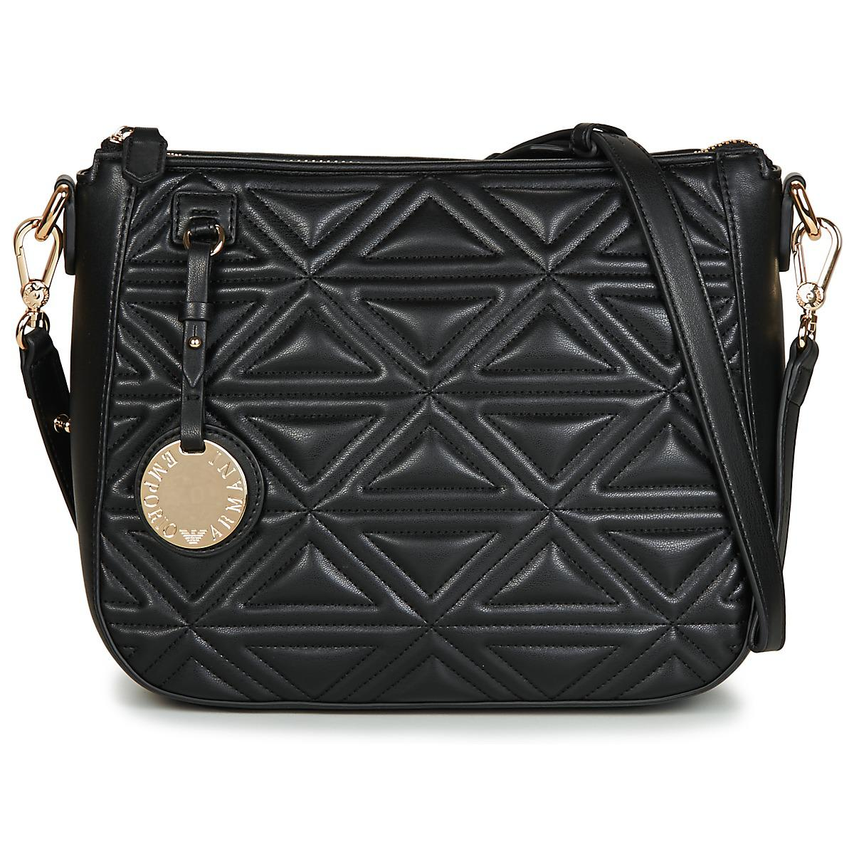 228d1eeb897 Emporio Armani - Black ELOISE SHOPPING BAG femmes Sac à main en Noir for  Men -. Afficher en plein écran