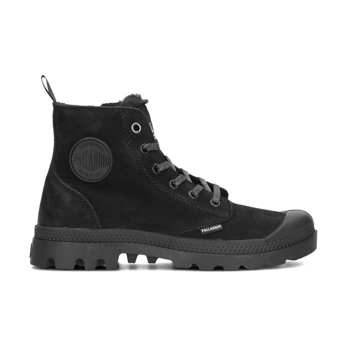 Palladium Pampa Hi Women s Shoes (high-top Trainers) In Black in ... ac4d96169