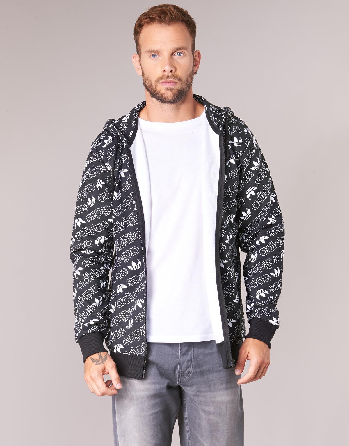 Sweat Pour Lyst Adidas En Homme Noir Hommes Monogram Shirt Fz wq7Rtqa