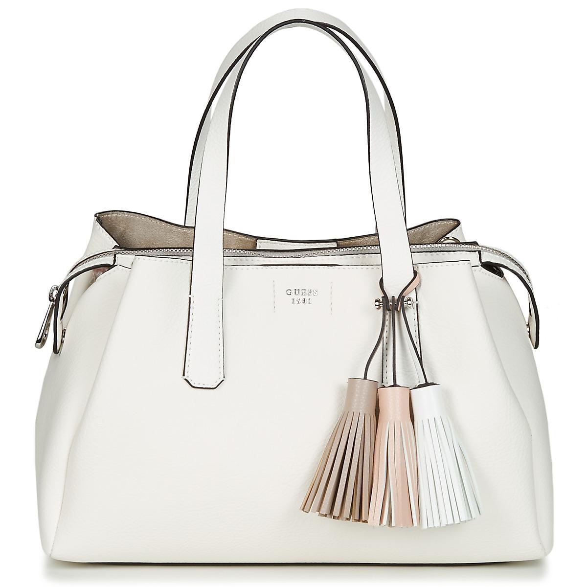 4d321d24fd27 Guess Trudy Girlfriend Satchel Women s Handbags In White in White - Lyst