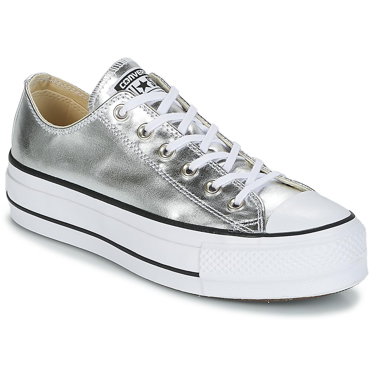 a793e95d86ac7 Converse Chuck Taylor All Star Lift Clean Ox Metallic Canvas Shoes ...